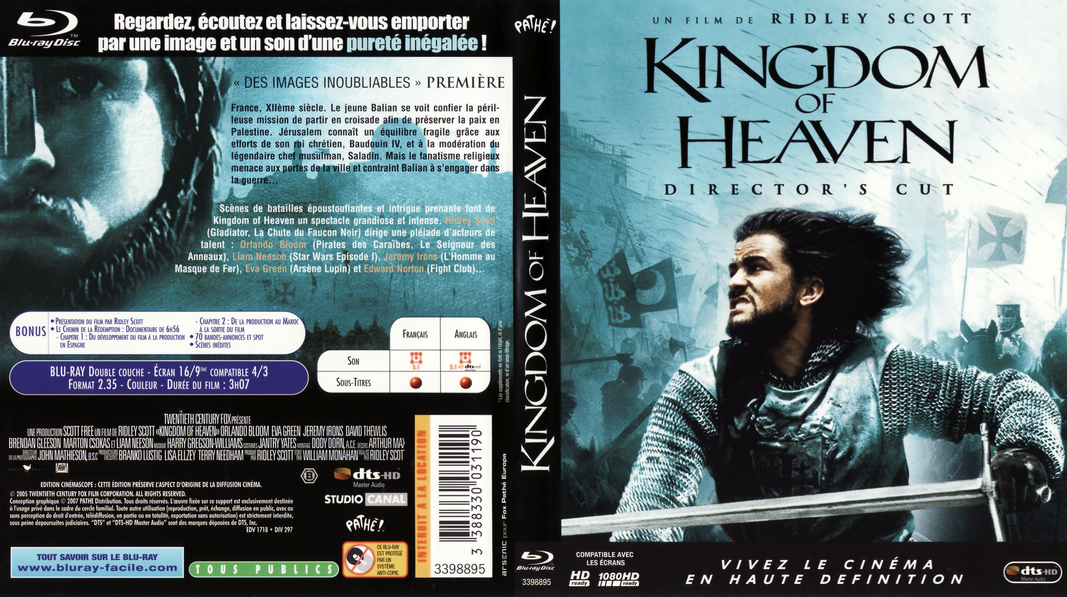 It's just a graphic of Lively Kingdom of Heaven Dvd Label
