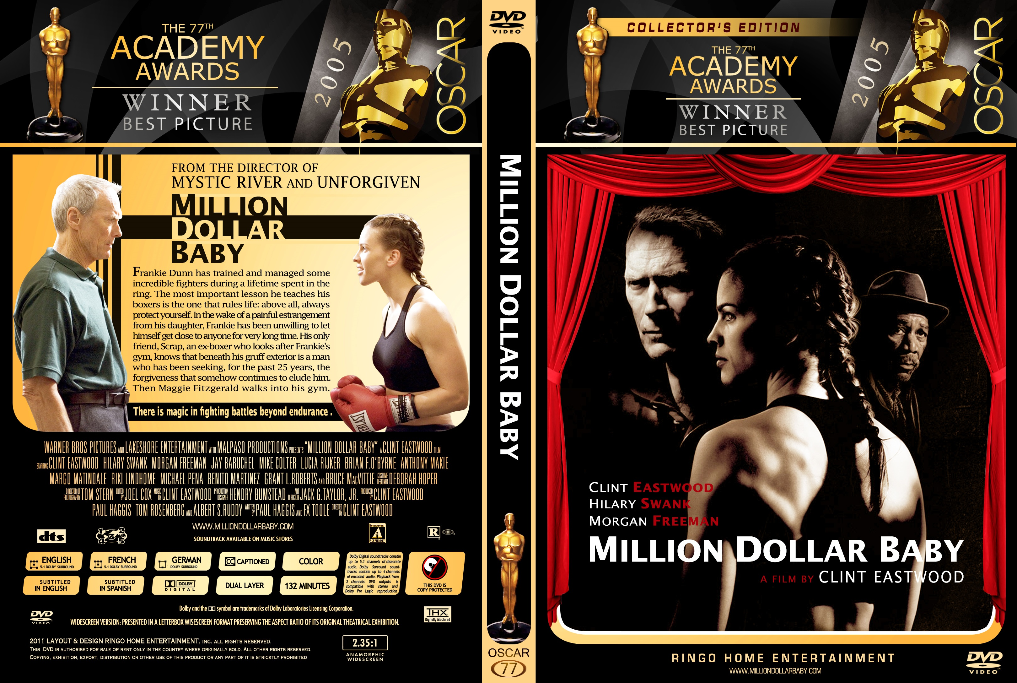 Covers Box Sk Million Dollar Baby 2004 High Quality Dvd Blueray Movie