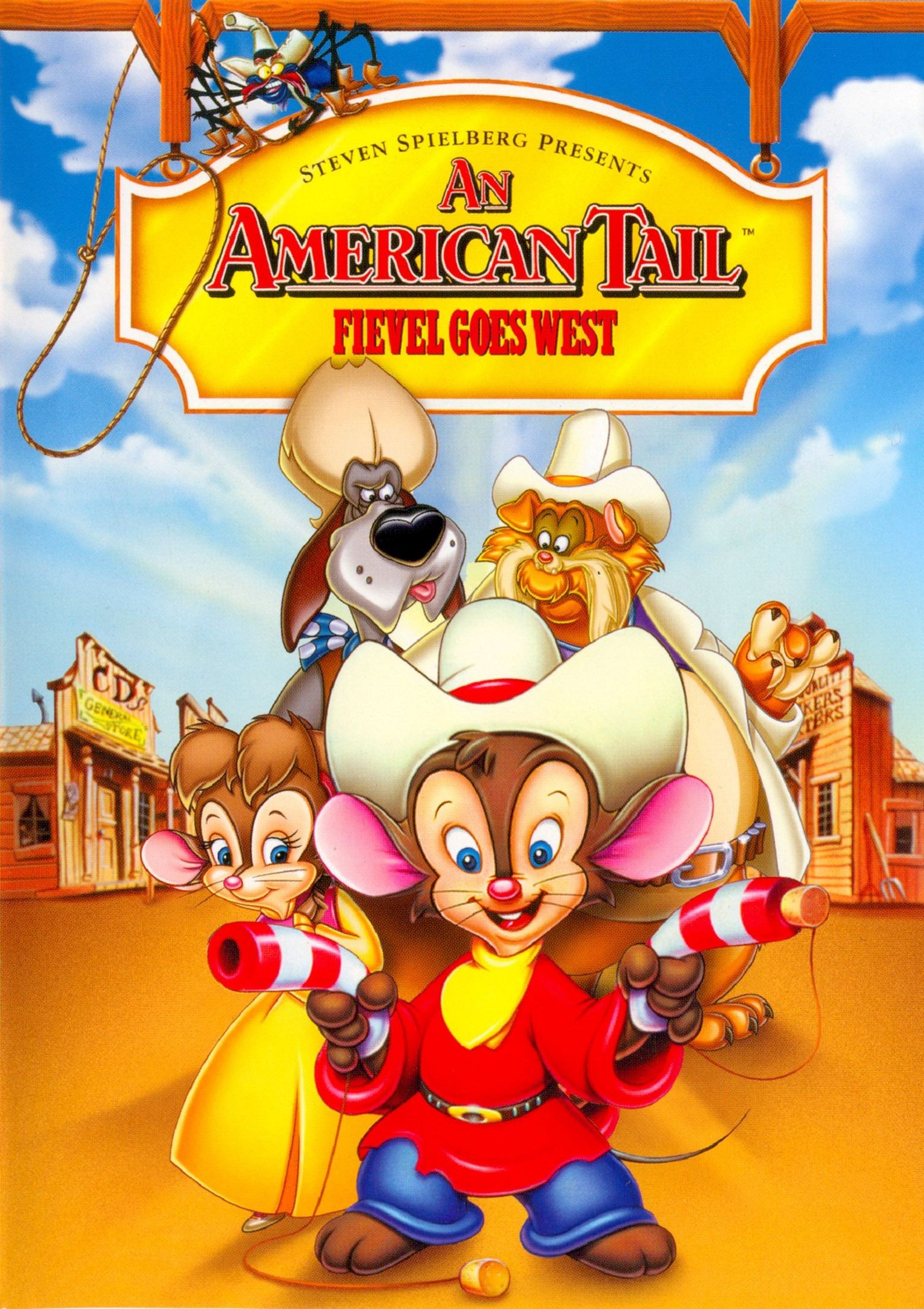coversboxsk an american tail fievel goes west 1991