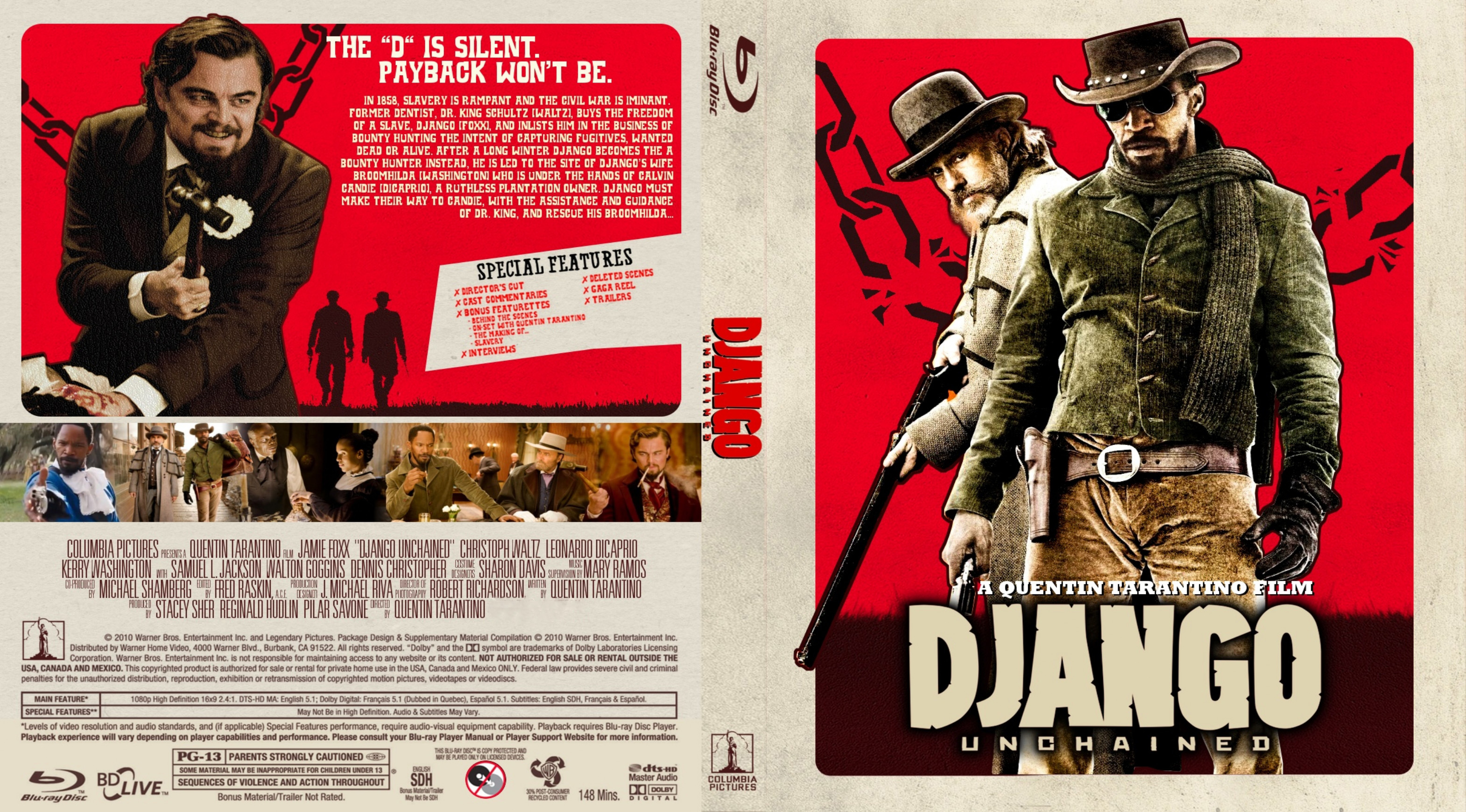 Covers Box Sk Django Unchained 2012 High Quality Dvd Blueray Movie