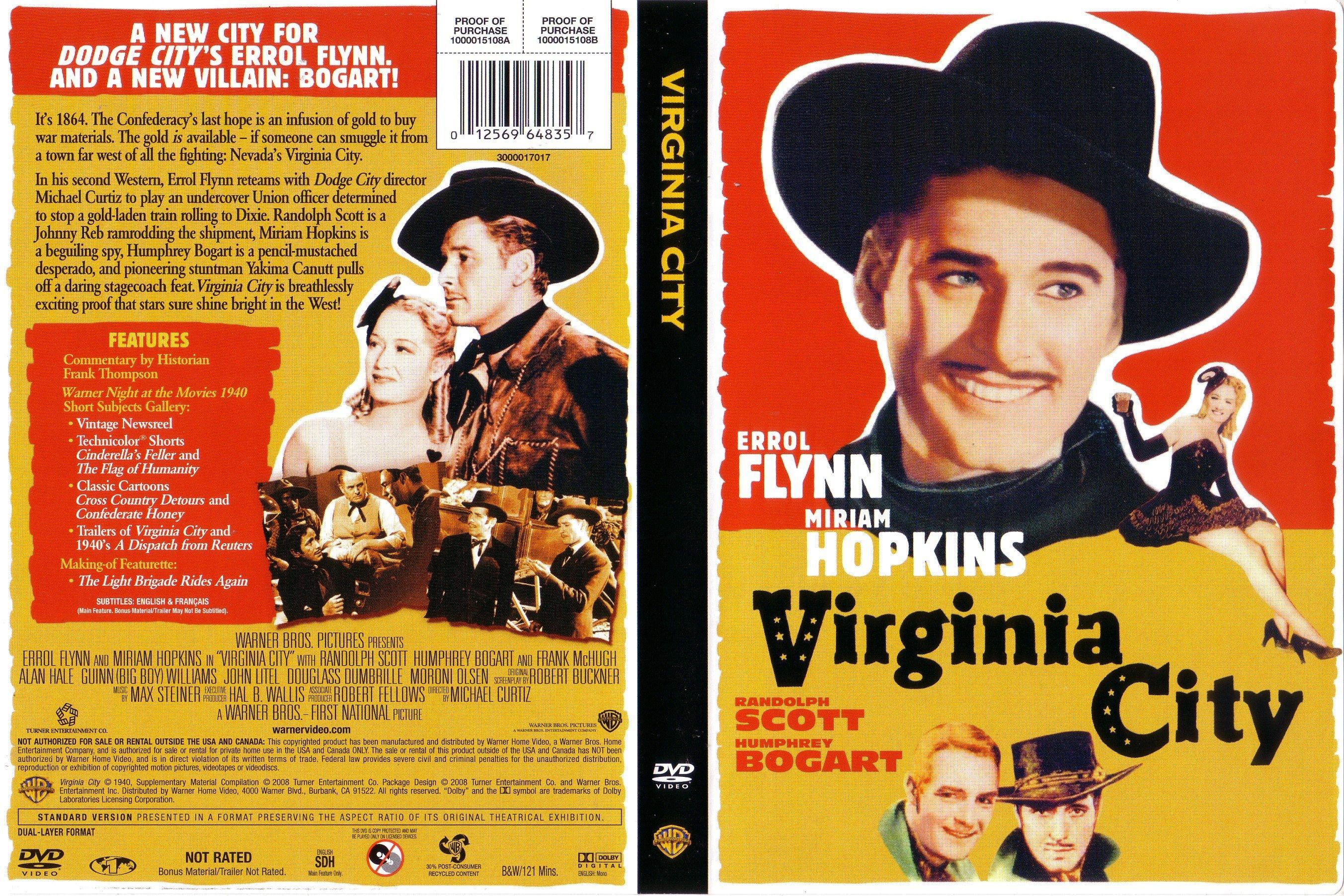 Covers Box Sk Virginia City 1940 High Quality Dvd