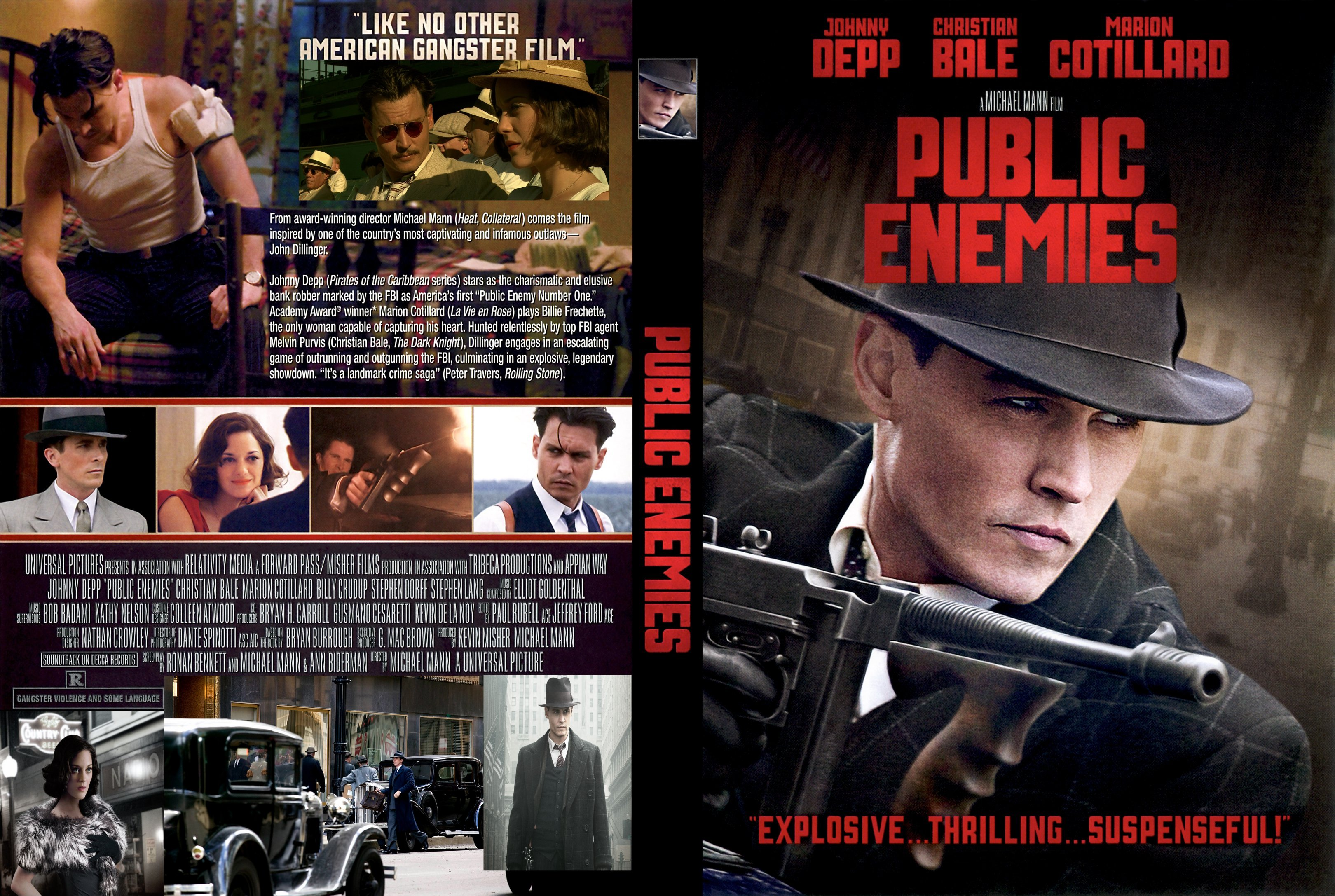 Covers Box Sk Public Enemies 2009 High Quality Dvd Blueray Movie