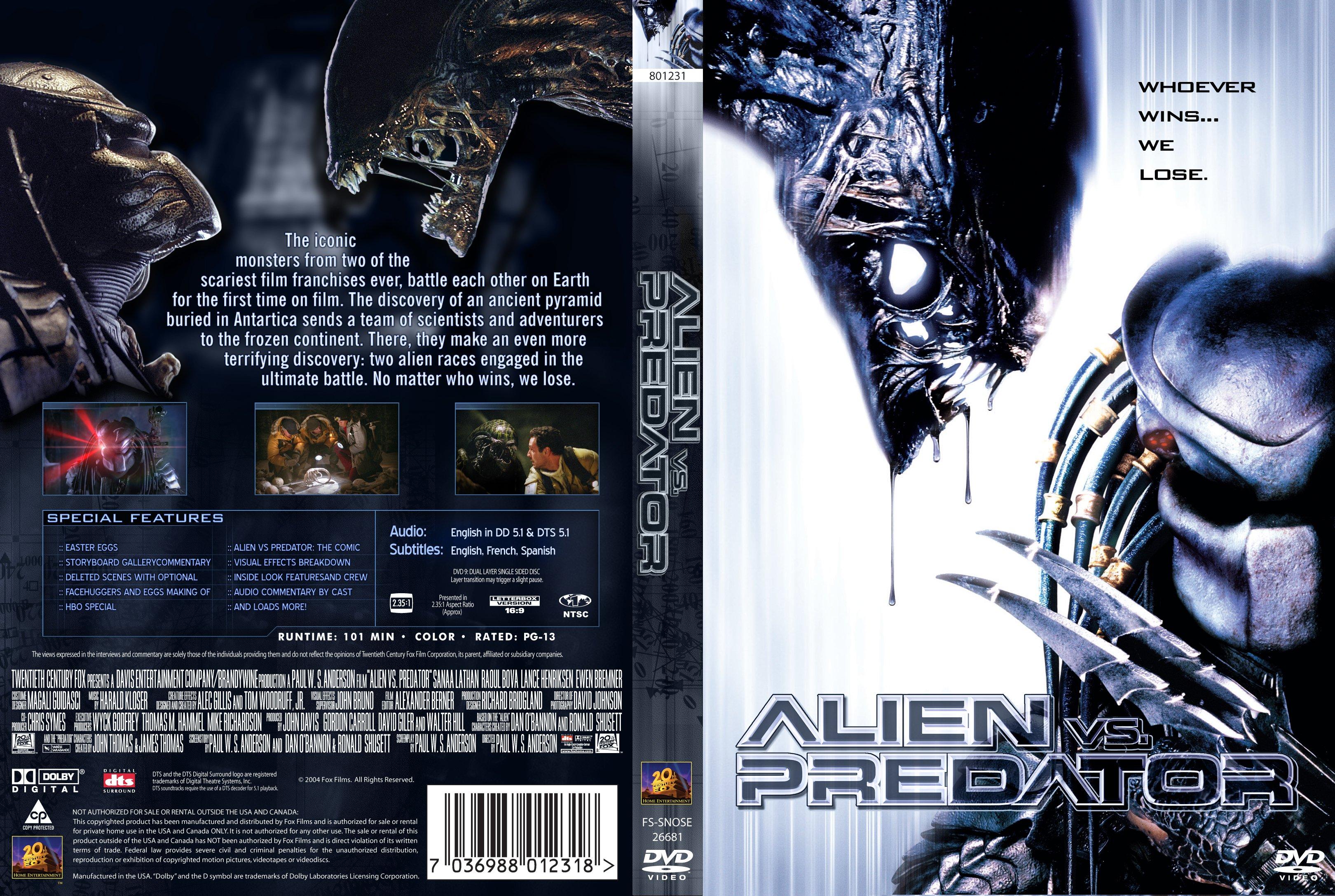 Covers Box Sk Alien Vs Predator 2004 High Quality Dvd Blueray Movie