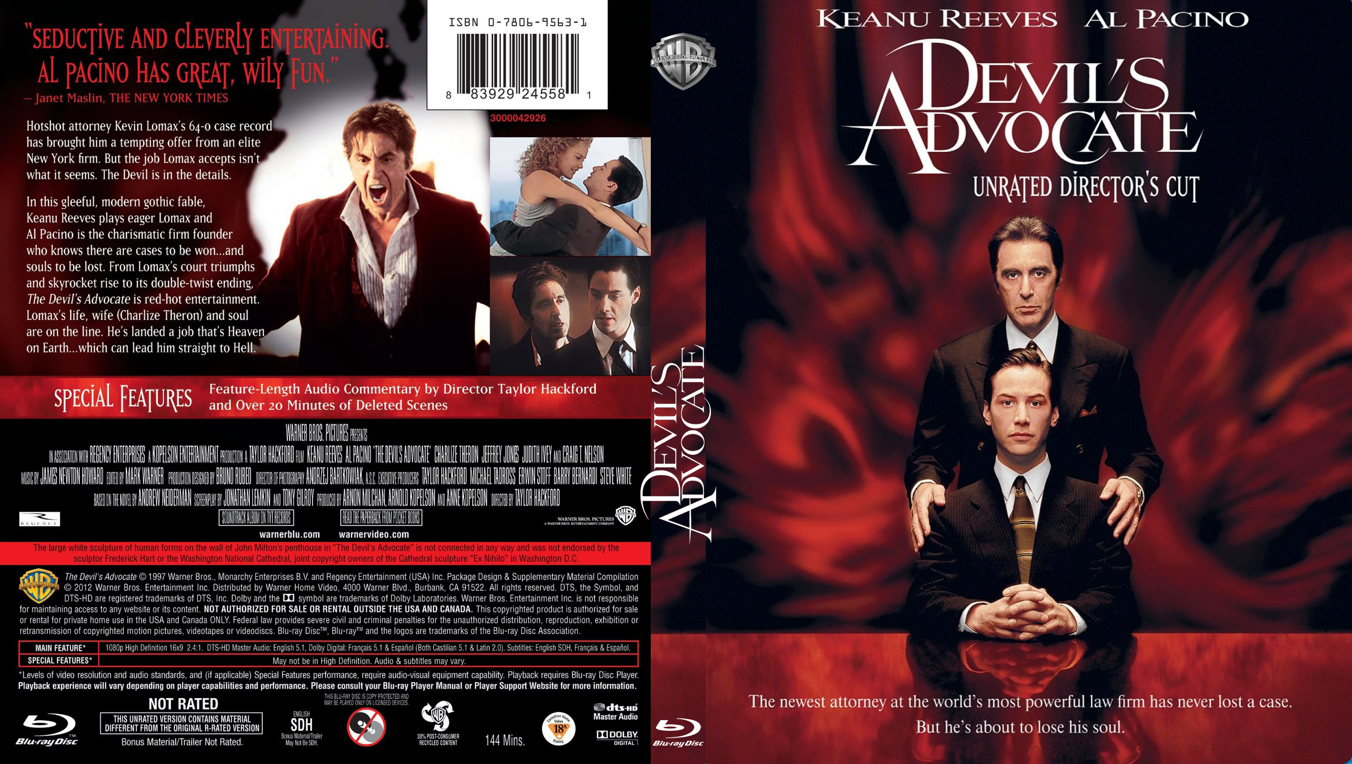 the portrayal of lucifer in the movies end of days and devils advocate Satan as a personification of evil provides many narrative opportunities struggles with satan have been used to symbolize human weaknesses and temptations, as in the films bedazzled (1967, remade 2000) and oh, god you devil (1984) in horror and suspense films, satan provides for a virtually.