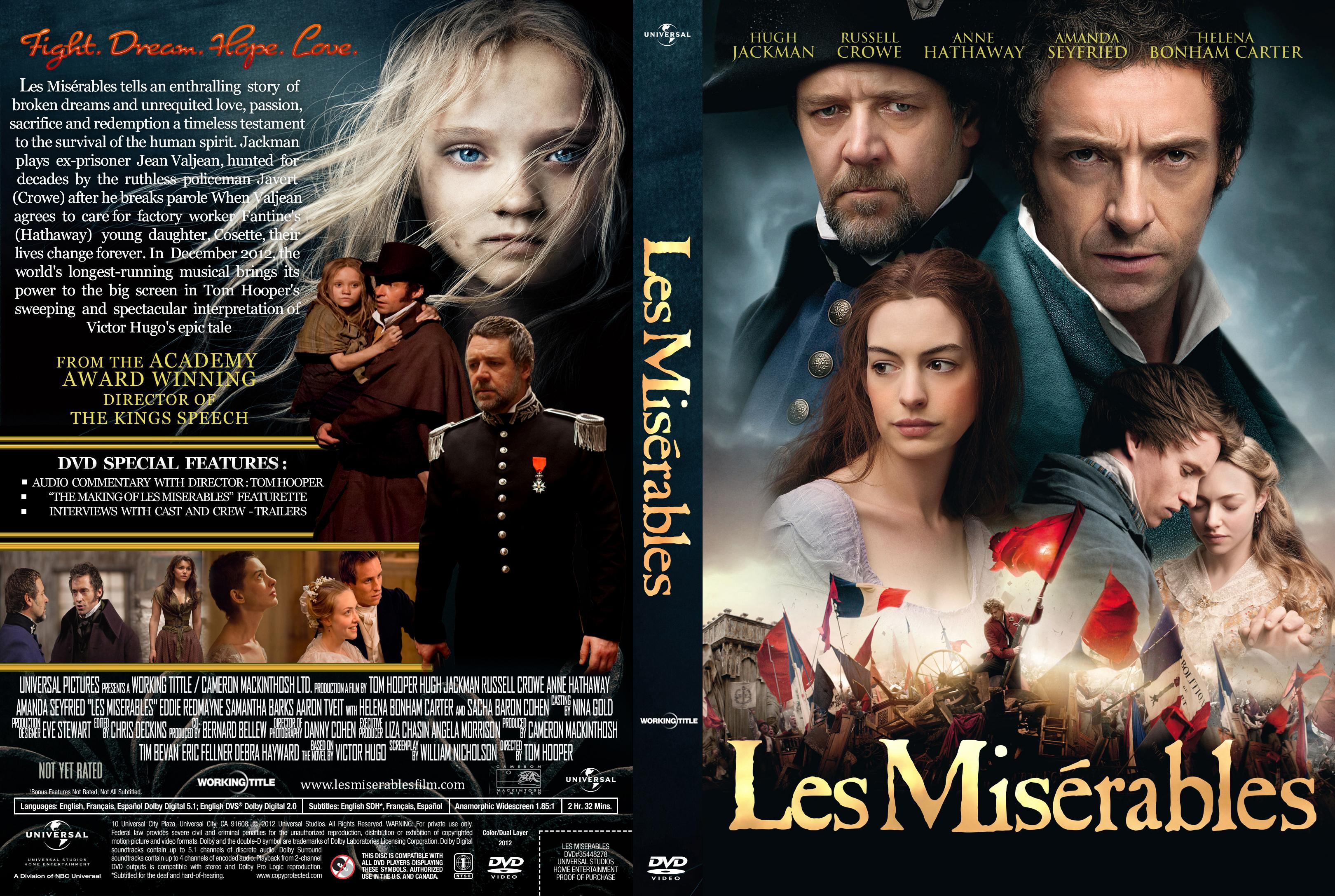COVERS.BOX.SK ::: les miserables 2012 - high quality DVD / Blueray ...