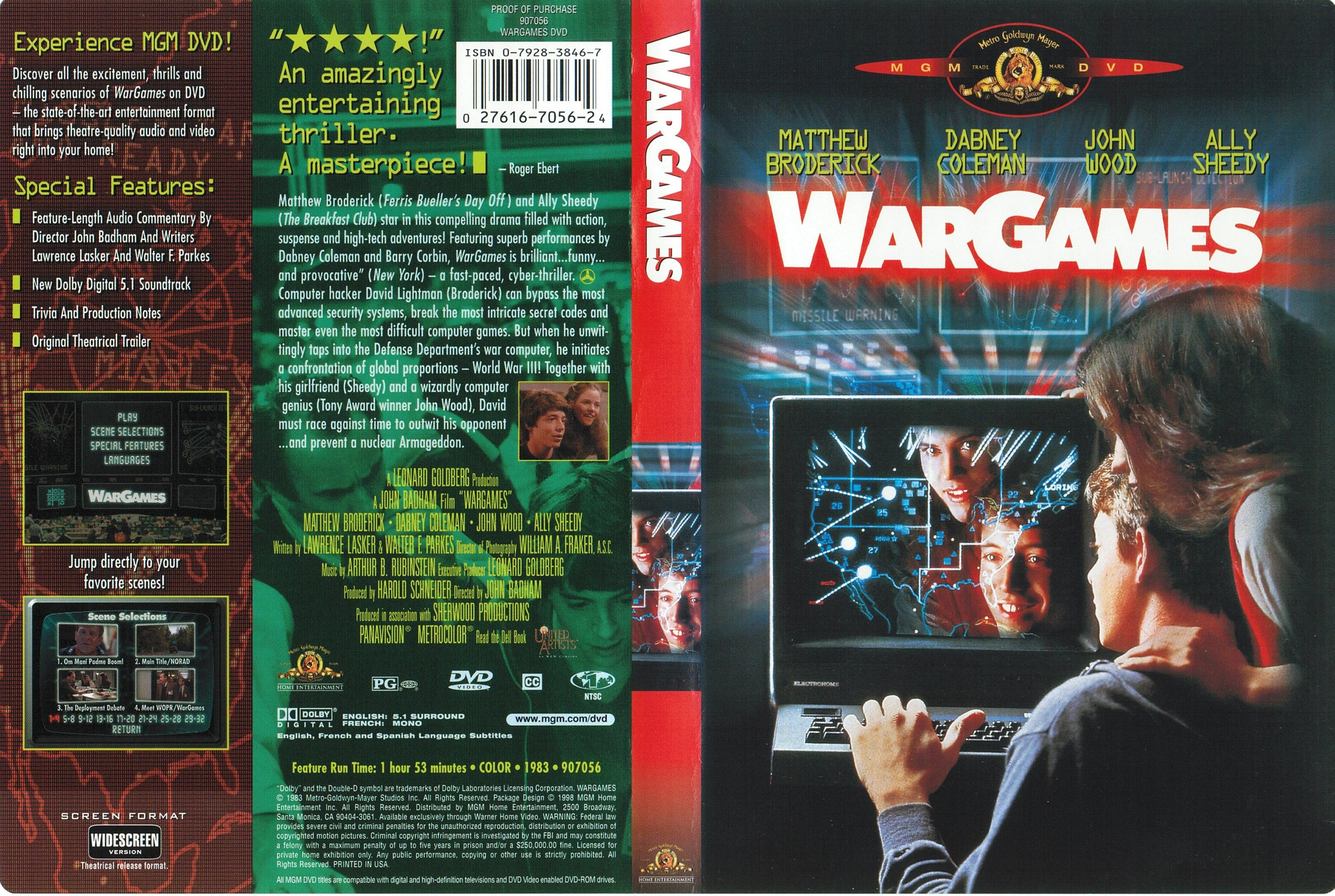 COVERS.BOX.SK ::: War Games 1983 - high quality DVD / Blueray / Movie