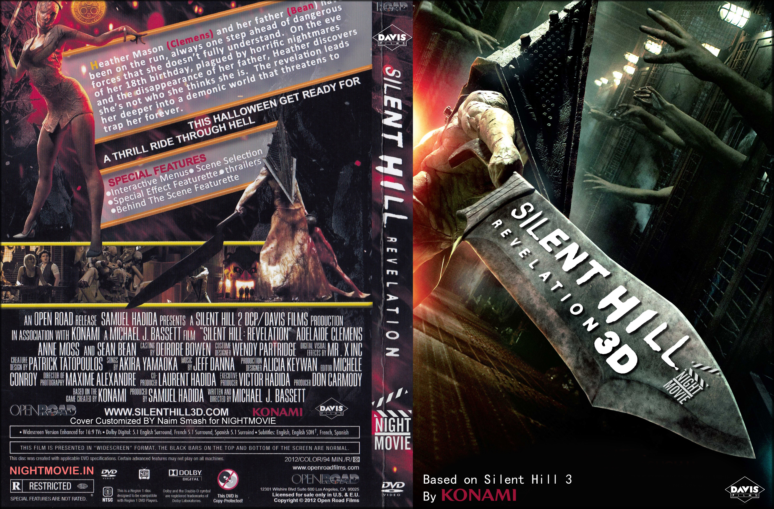 Covers Box Sk Silent Hill Revelation 3d High Quality Dvd