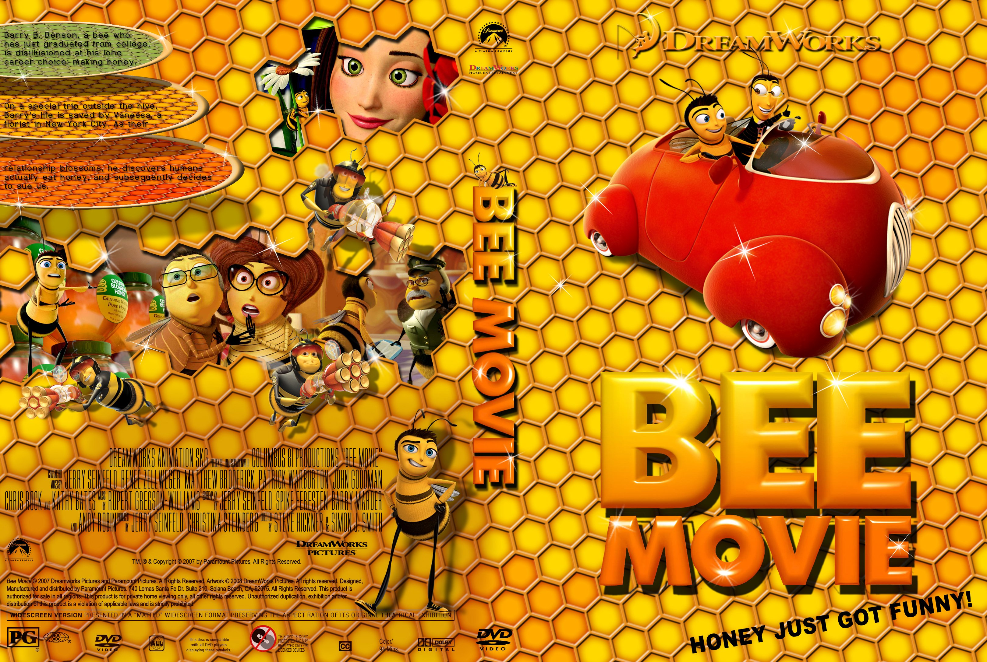 Bee Movie 2007 - front back