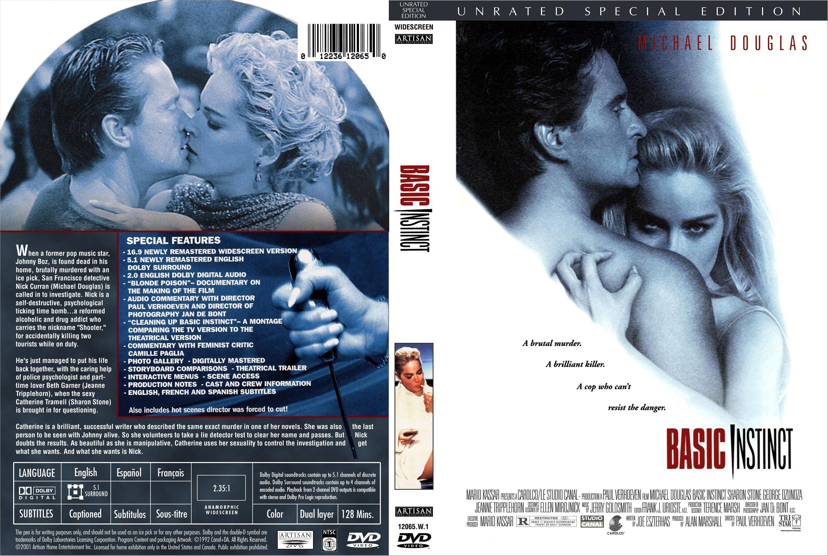 Covers Box Sk Basic Instinct 1992 High Quality Dvd Blueray Movie