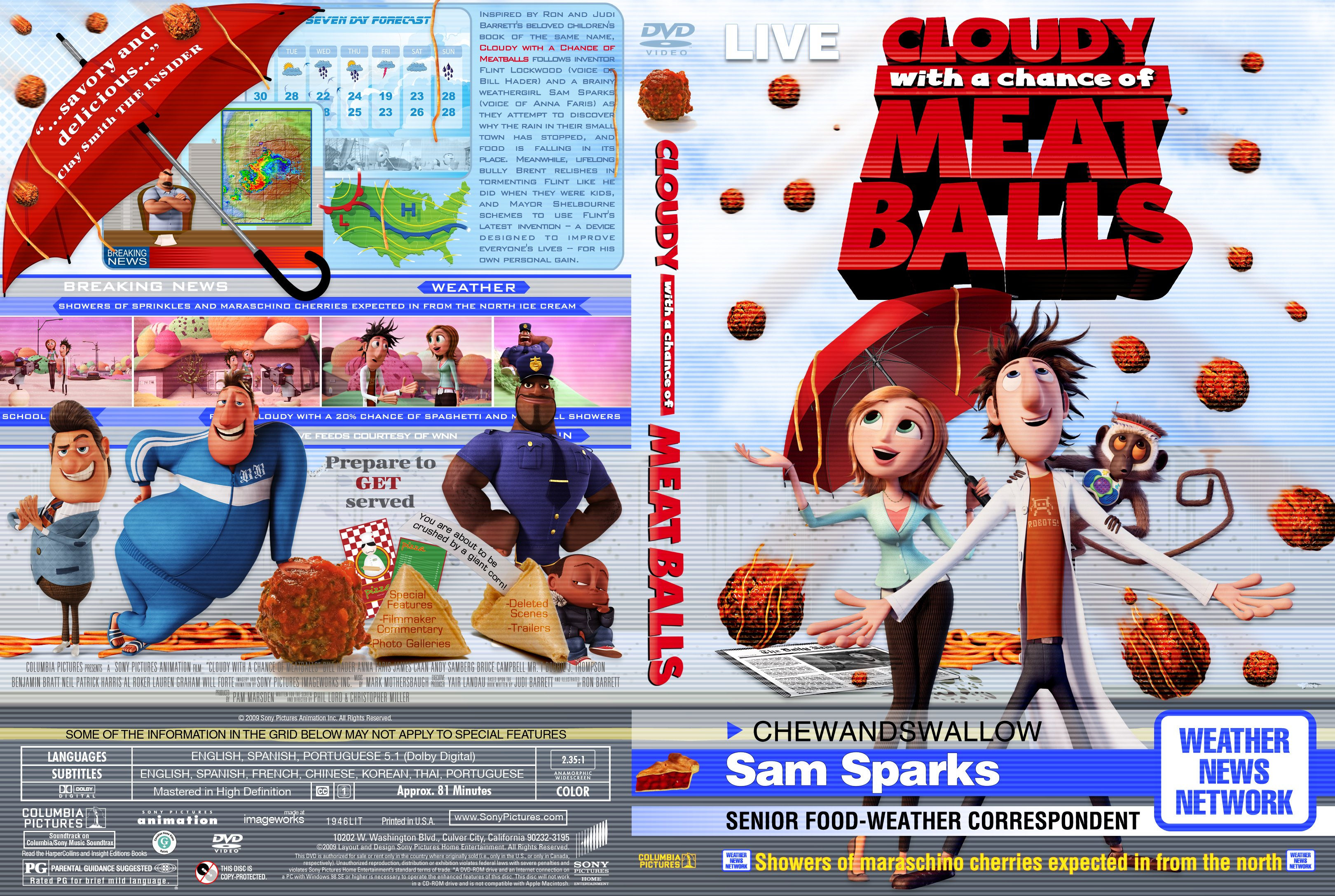 Covers Box Sk Cloudy With A Chance Of Meatballs 2009 High Quality Dvd Blueray Movie