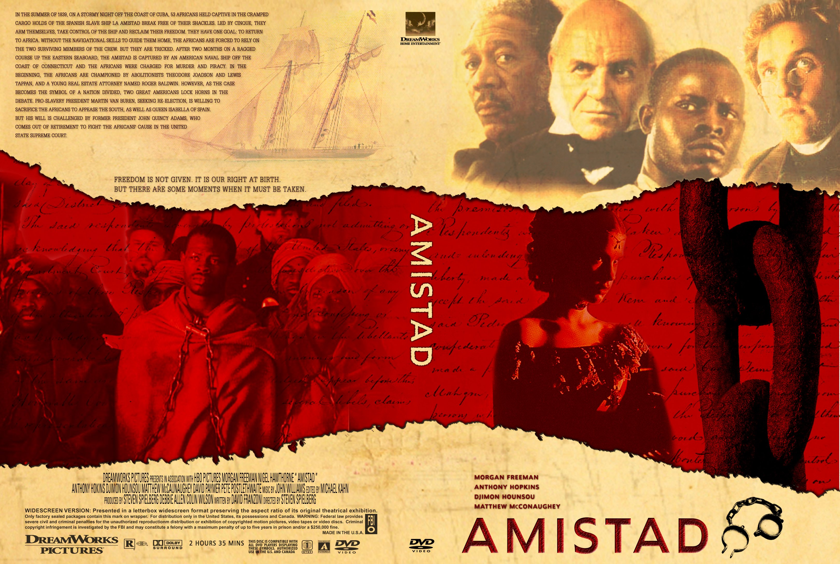 the misuse of historical facts in amistad a movie by steven spielberg