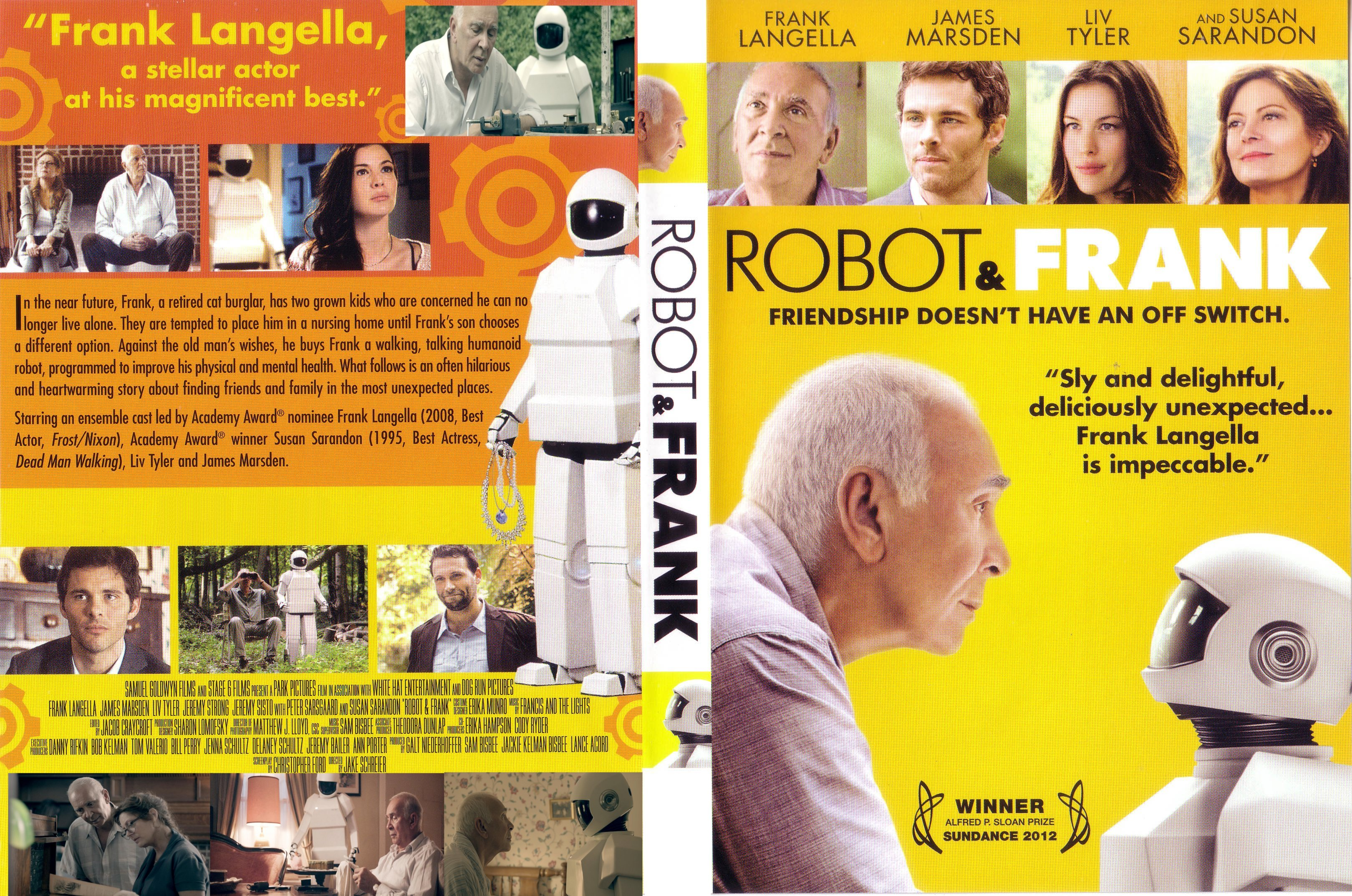 covers box sk robot frank 2012 high quality dvd blueray