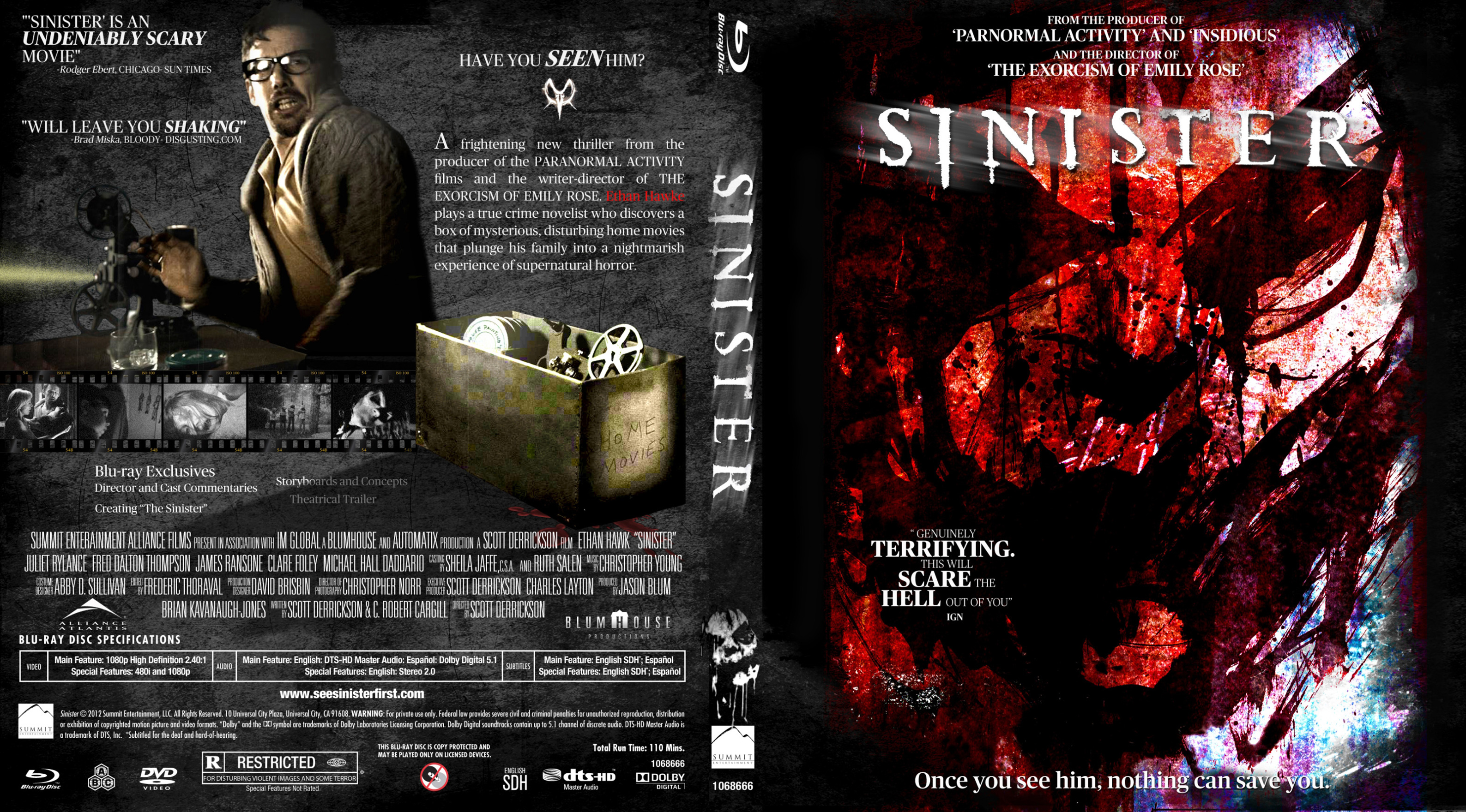 COVERS BOX SK ::: Sinister - high quality DVD / Blueray / Movie