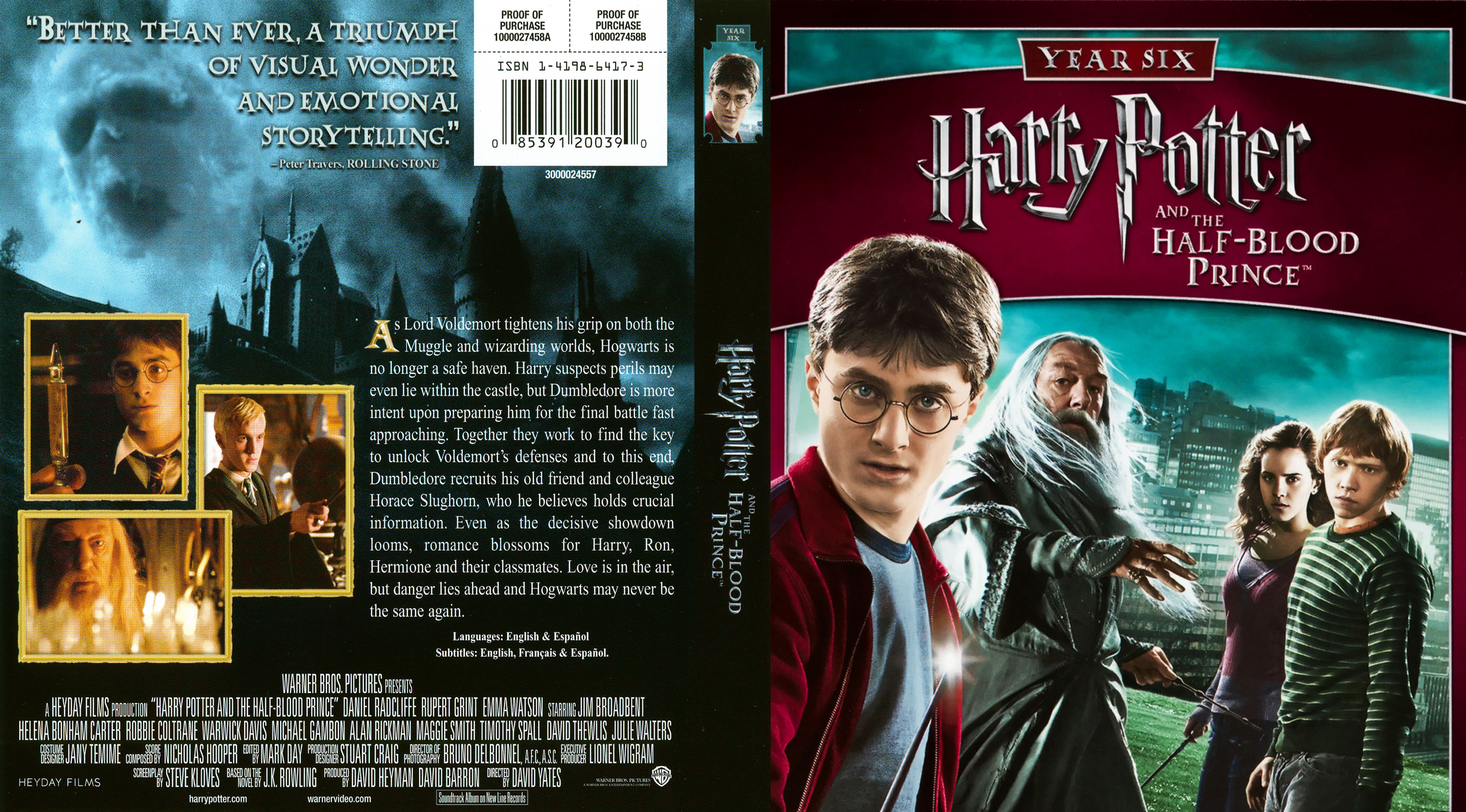 Covers Box Sk Harry Potter And The Half Blood Prince 2009 High Quality Dvd Blueray Movie