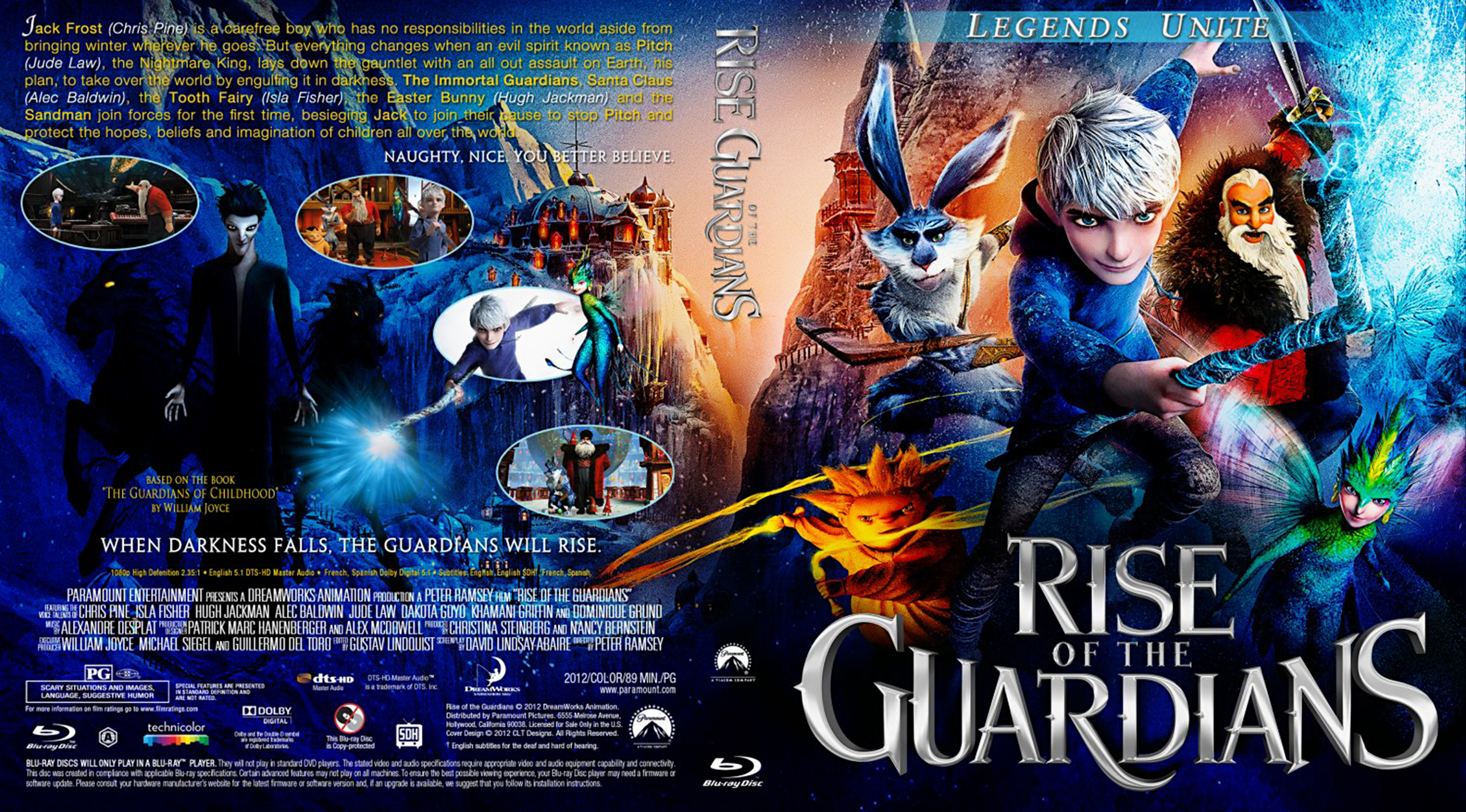 Covers Box Sk Rise Of The Guardians 2012 High Quality Dvd Blueray Movie