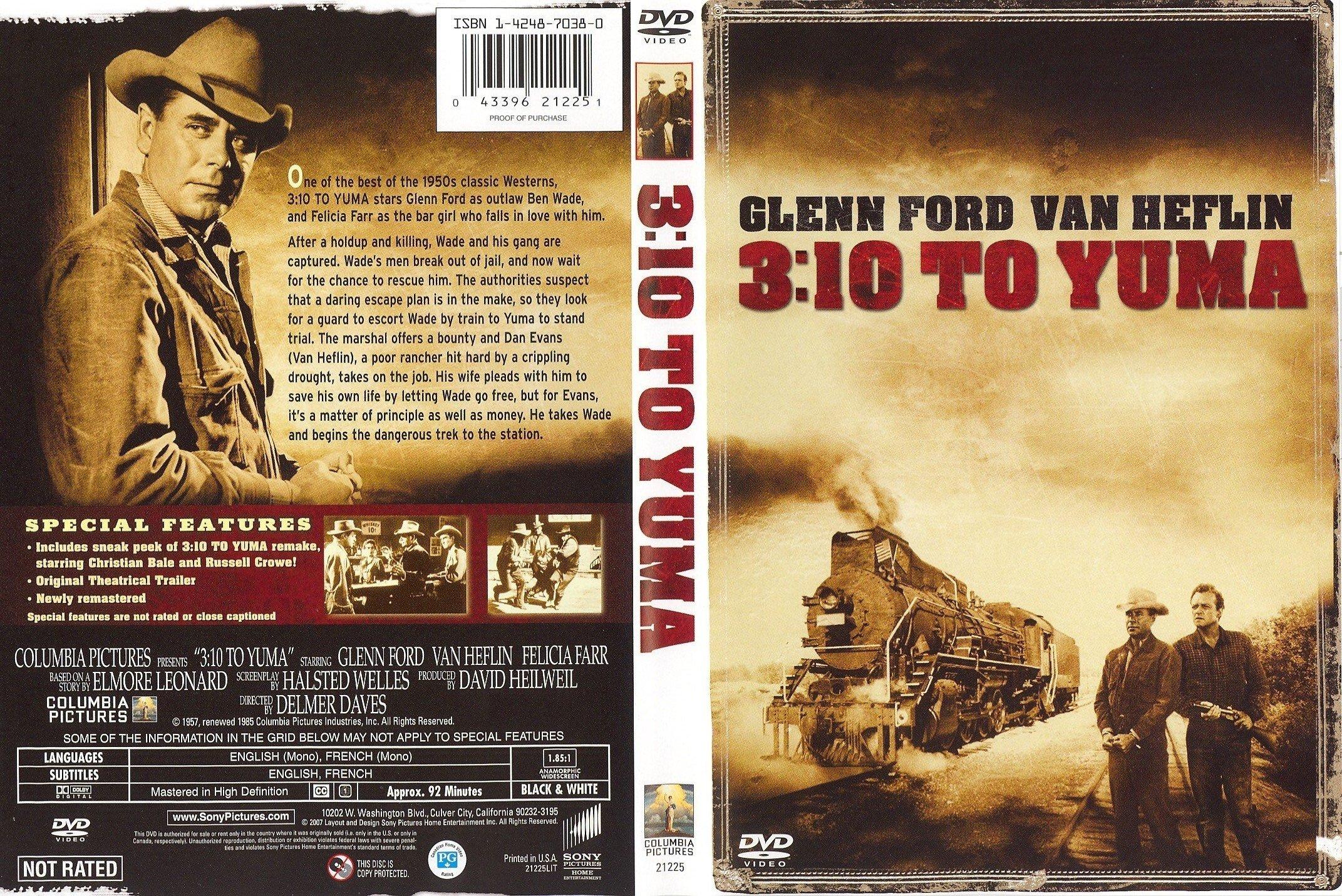 Covers Box Sk 3 10 To Yuma 1957 High Quality Dvd