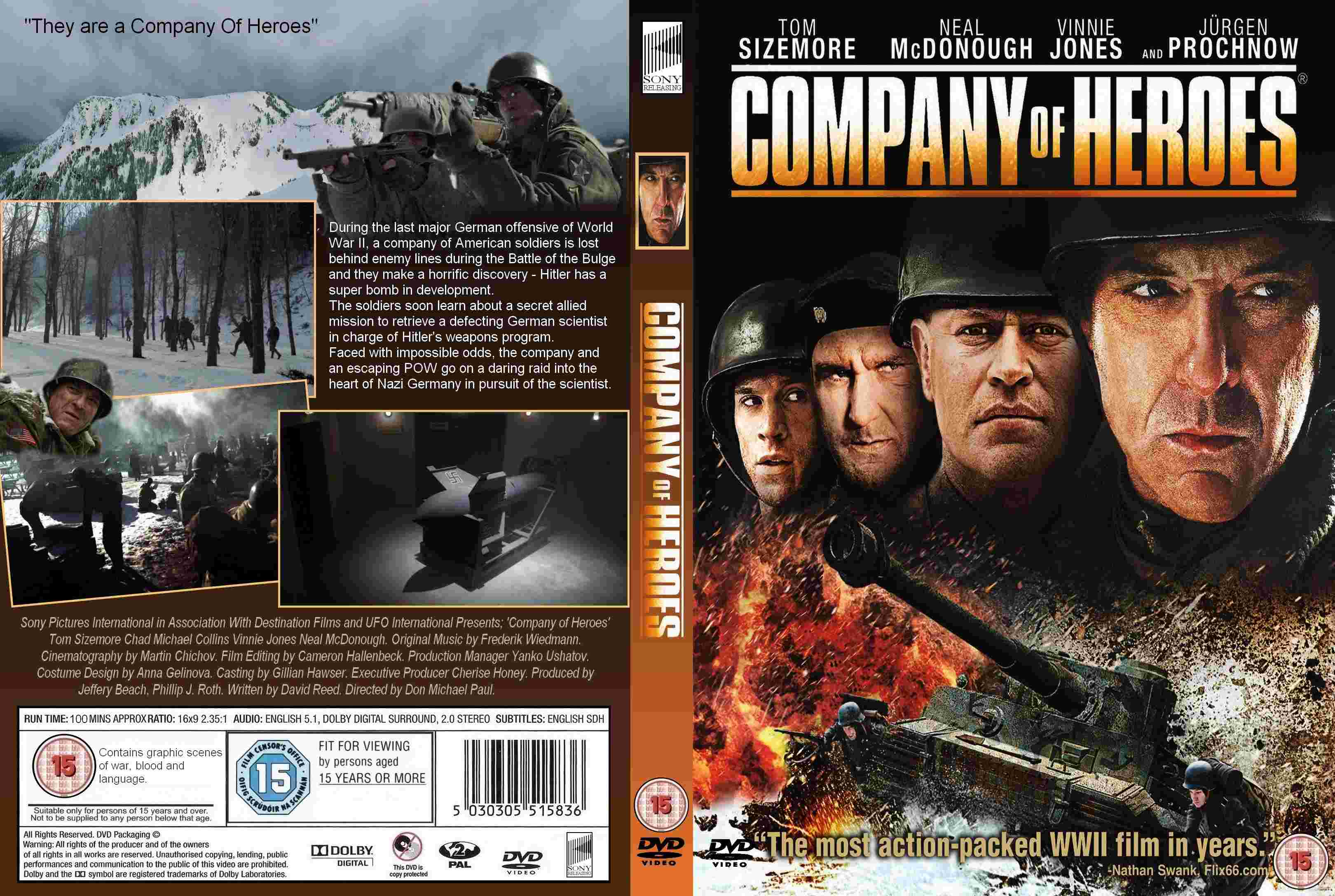 Covers Box Sk Company Of Heroes High Quality Dvd Blueray Movie