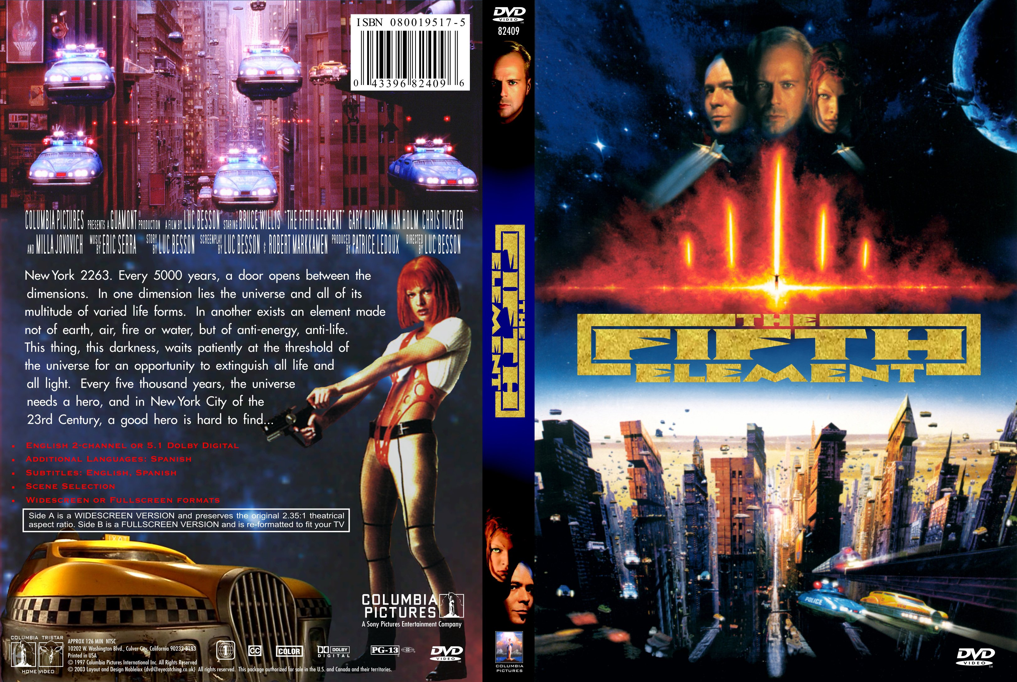Covers Box Sk The Fifth Element 1997 High Quality Dvd Blueray Movie