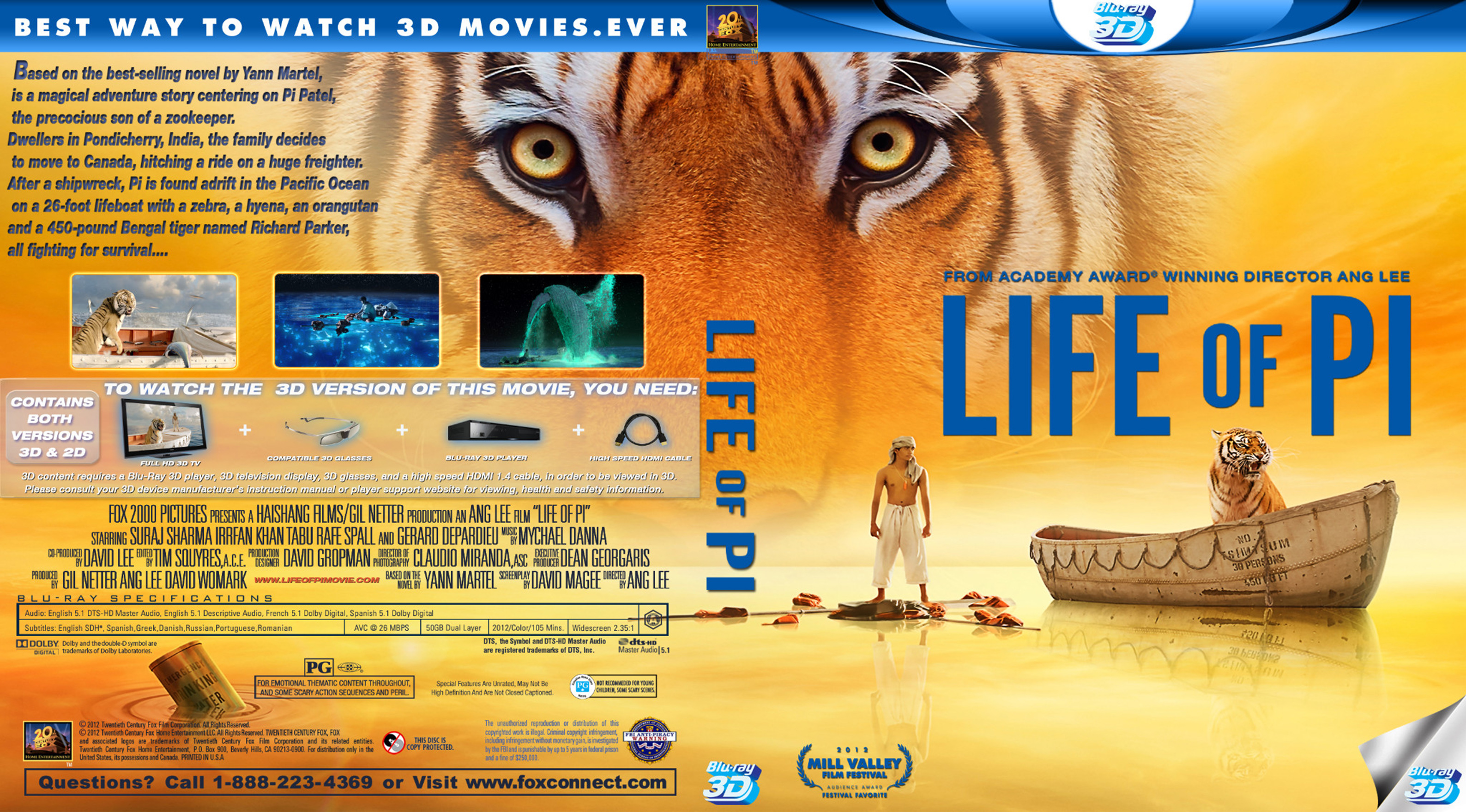 a review of the movie life of pi The life of pi - review an extravagantly decorated cake of a film with nothing inside but the wisdom of a fortune cookie by ryan gilbey print html the life of pi.