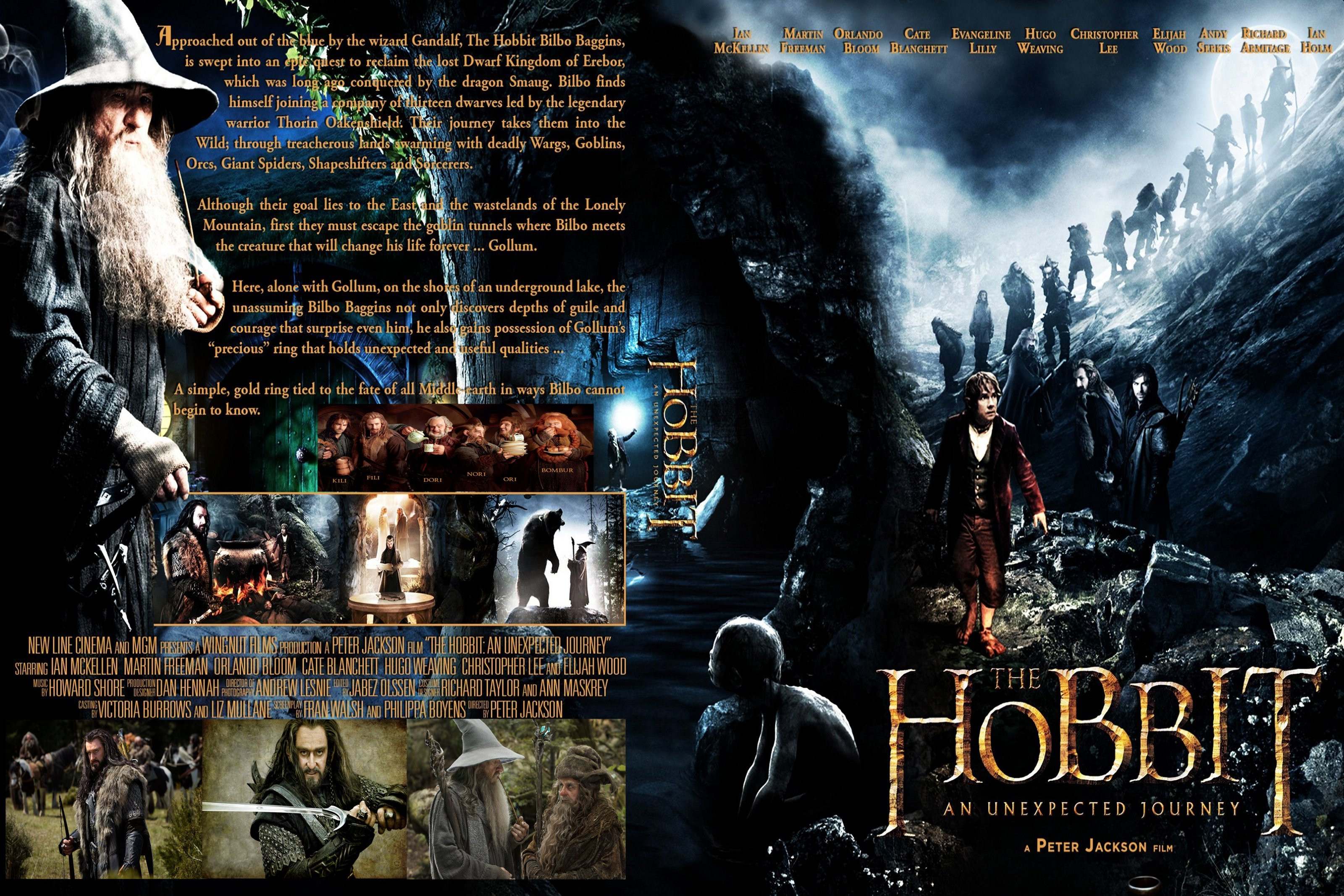 covers box sk the hobbit an unexpected journey 2012 high quality dvd blueray movie. Black Bedroom Furniture Sets. Home Design Ideas