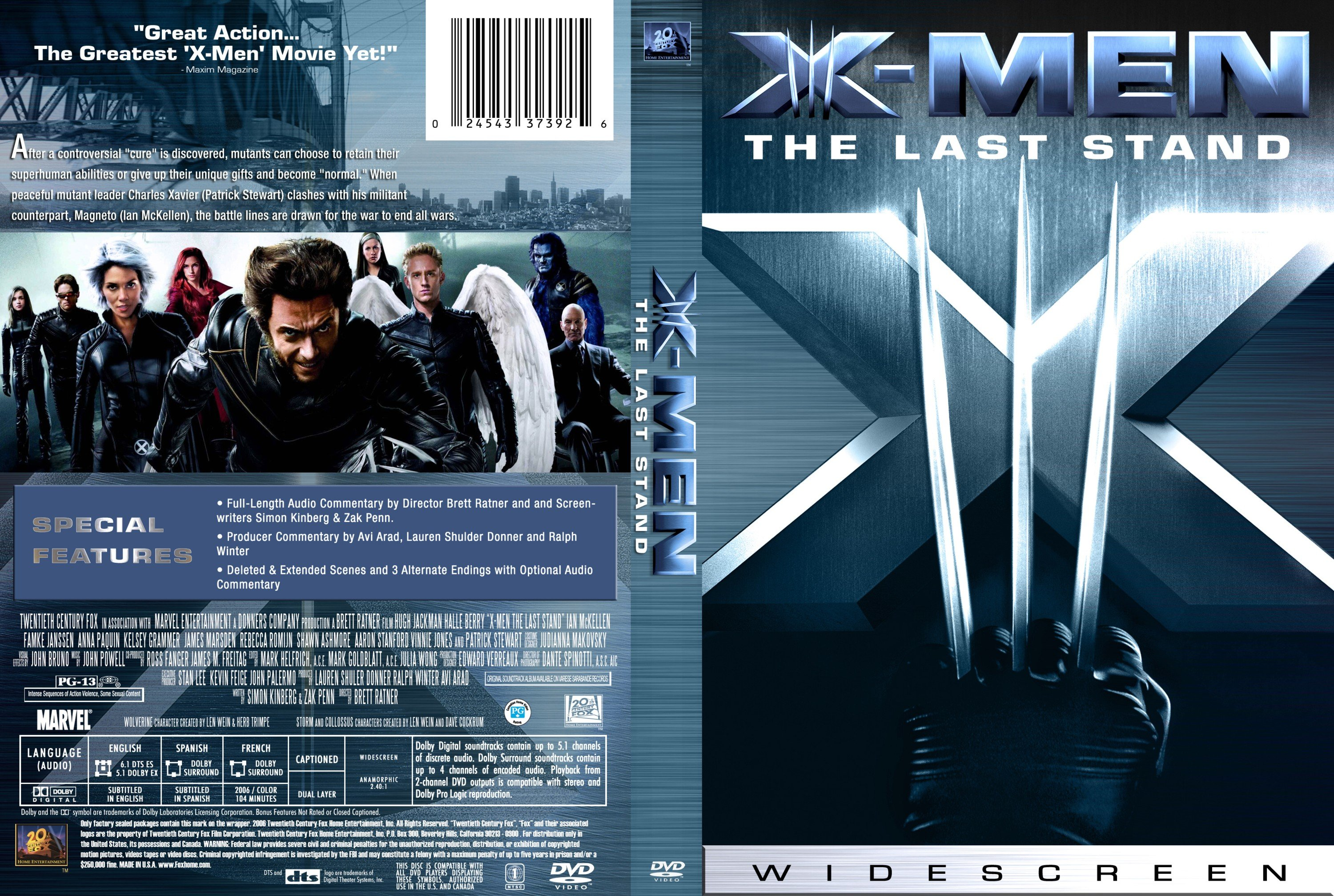 X Men Dvd Cover: COVERS.BOX.SK ::: X-Men The Last Stand 2006