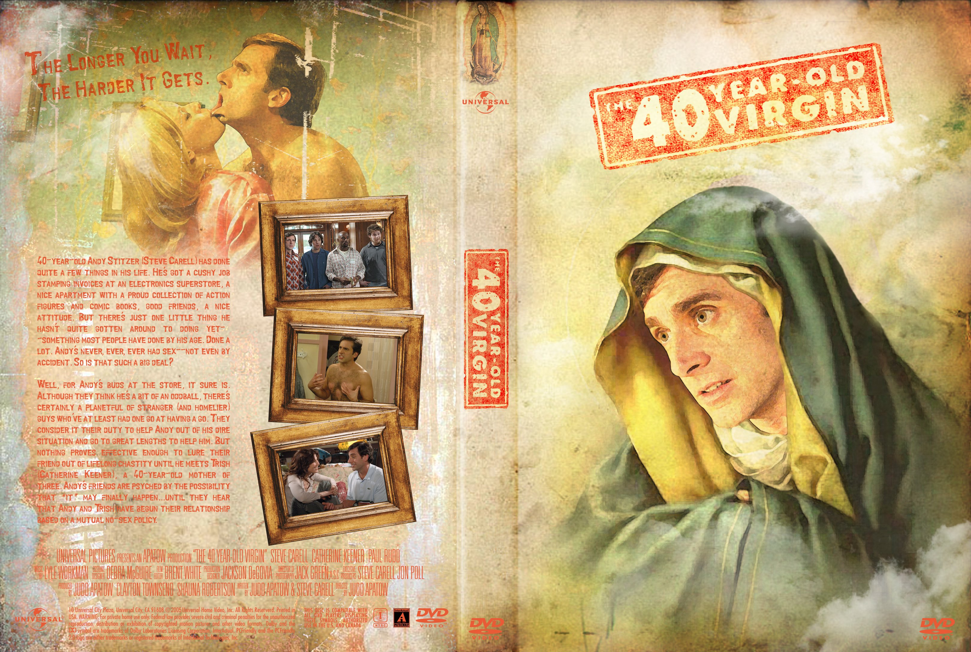 Covers Box Sk The 40 Year Old Virgin 2005 High Quality Dvd Blueray Movie