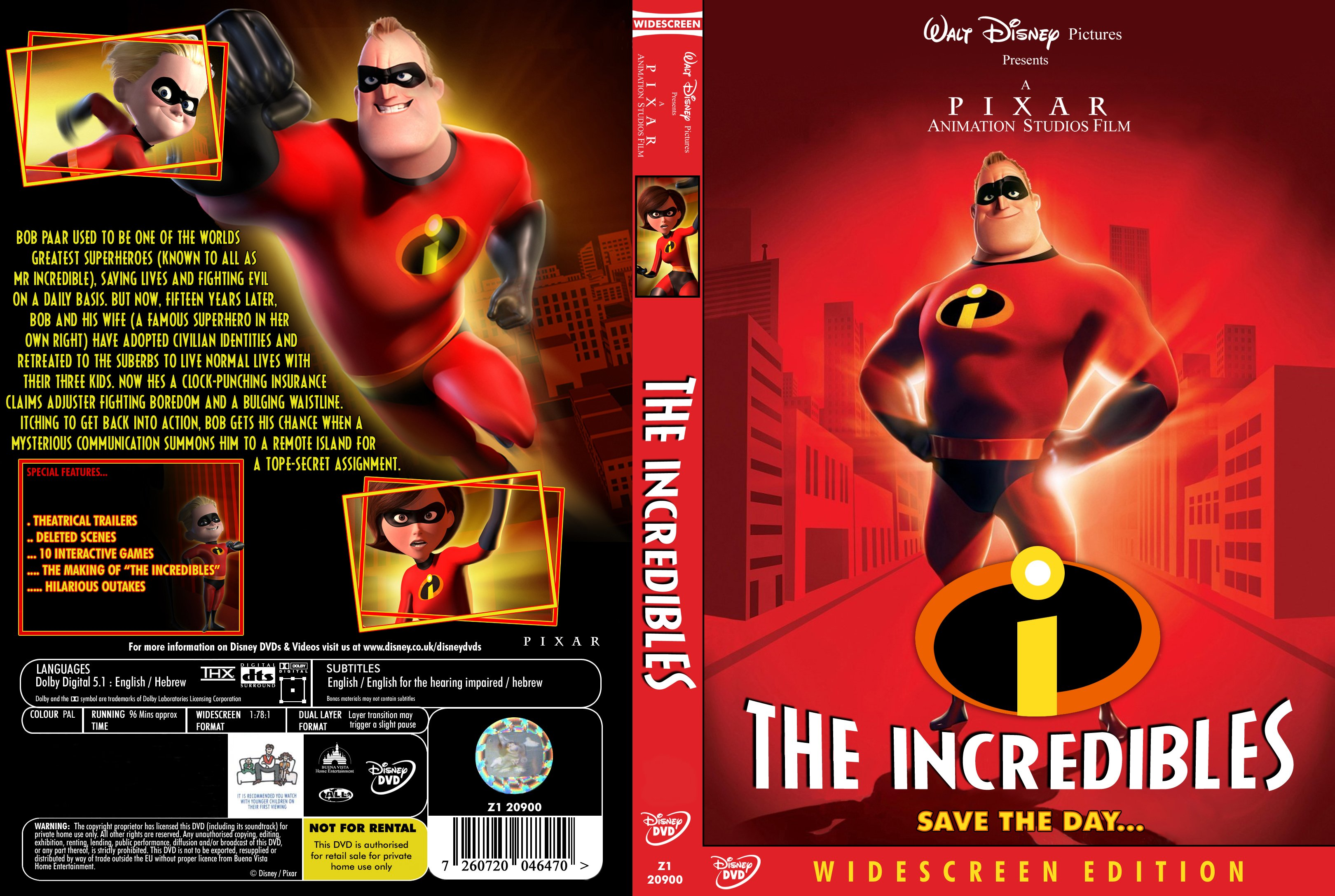 COVERS BOX SK ::: The Incredibles 2004 - high quality DVD / Blueray
