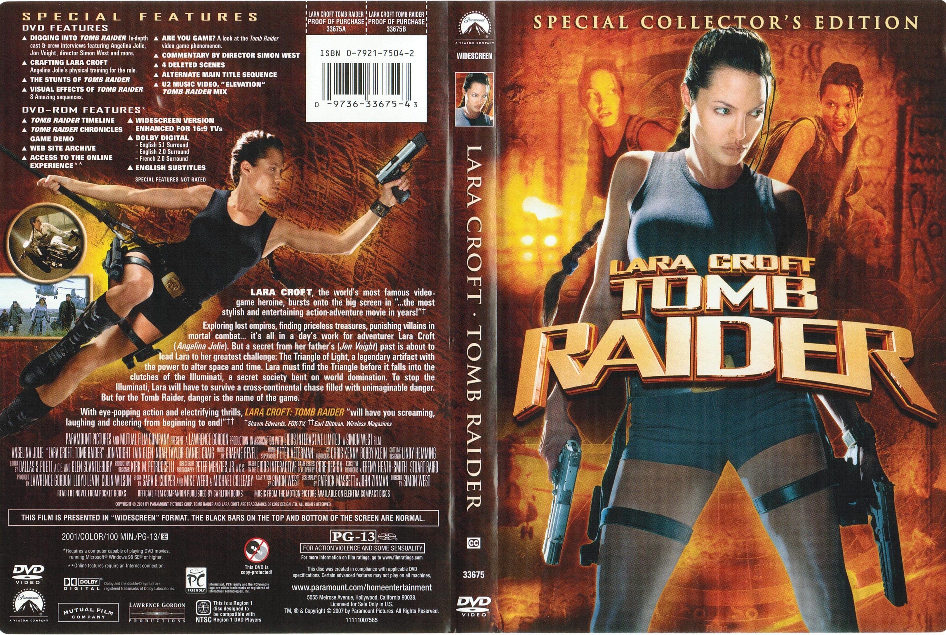 Covers Box Sk Lara Croft Tomb Raider 2001 High Quality Dvd