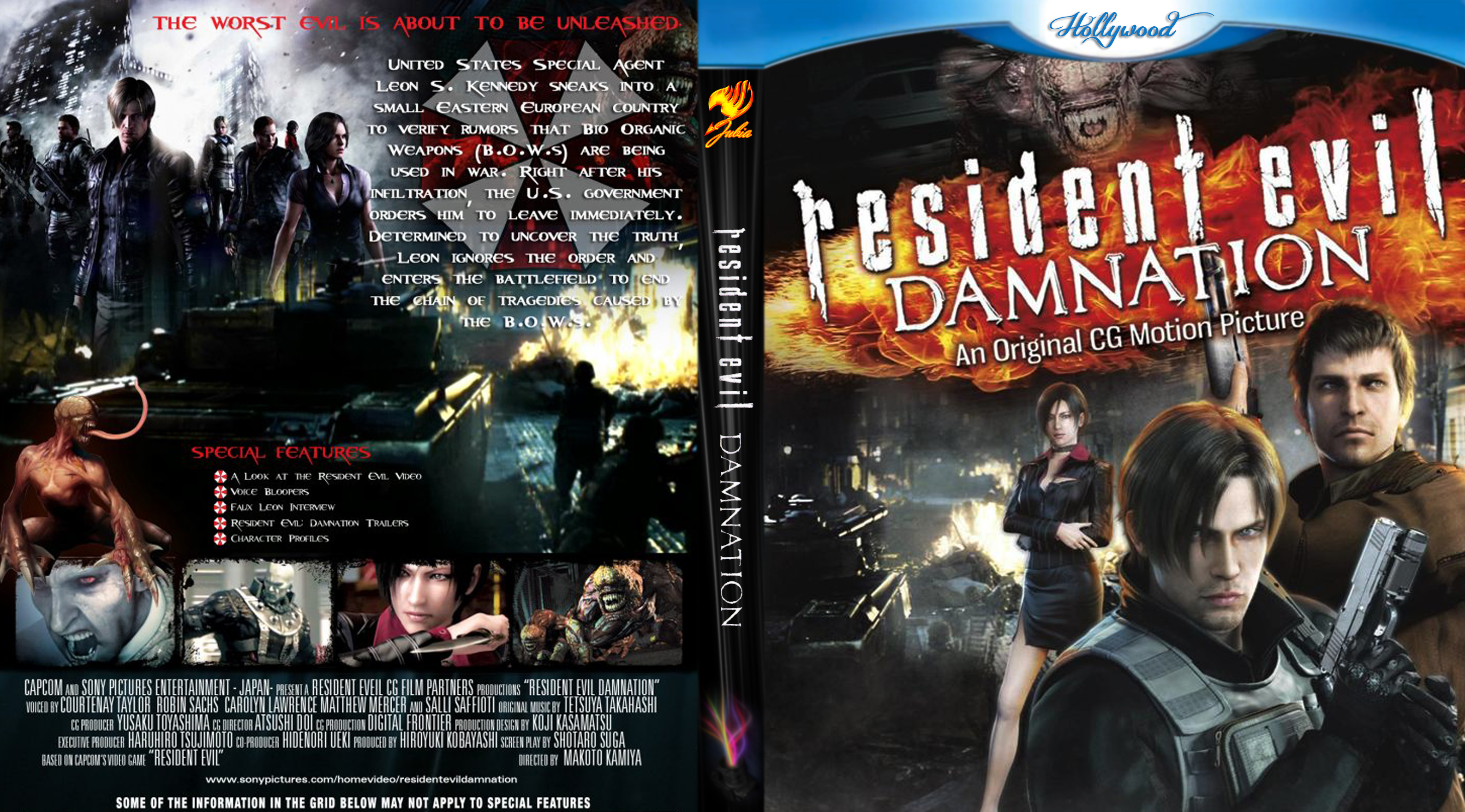 Covers Box Sk Resident Evil Damnation High Quality Dvd Blueray Movie