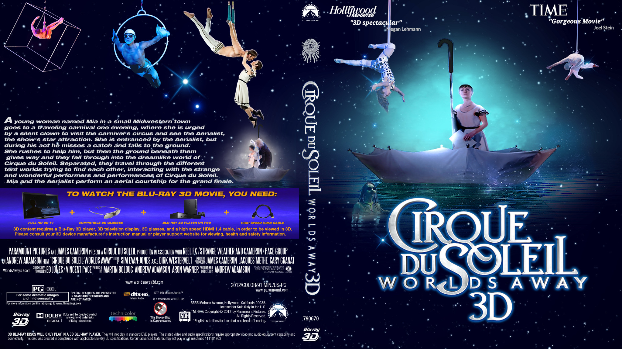 COVERS.BOX.SK ::: Cirque du Soleil Worlds Away - high quality DVD ...