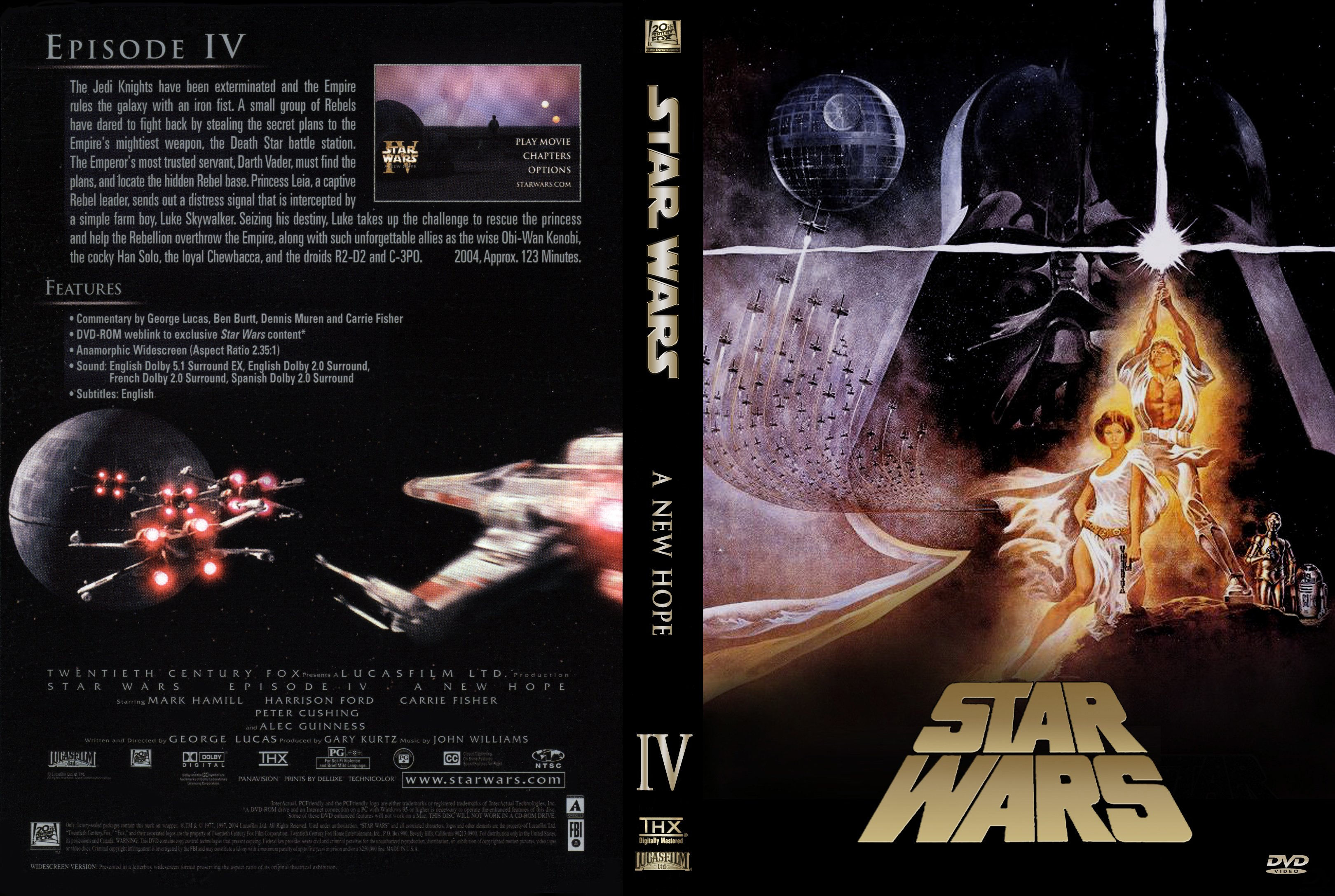 Covers Box Sk Star Wars Episode Iv A New Hope 1977 High Quality Dvd Blueray Movie