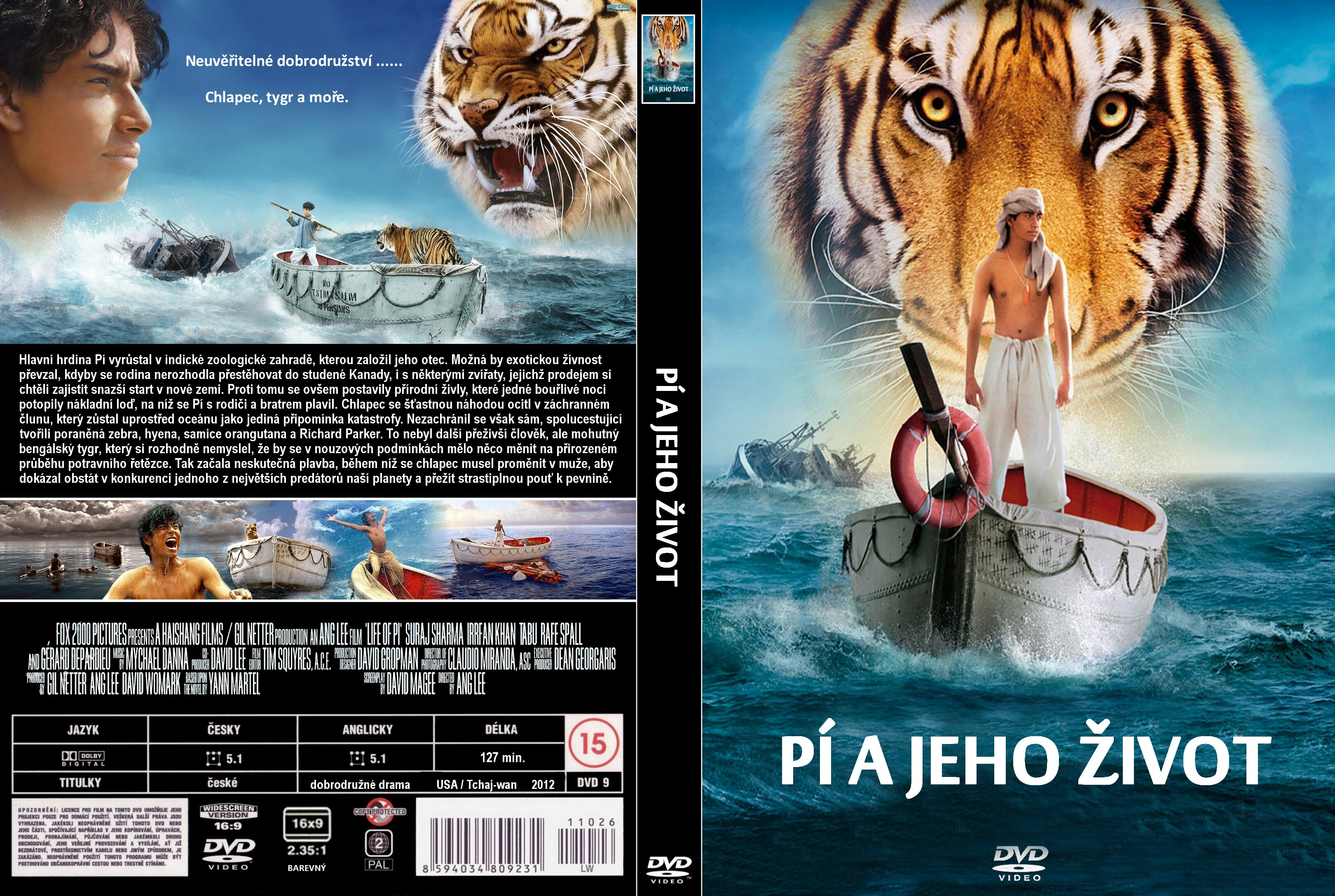 Covers Box Sk Life Of Pi 2012 High Quality Dvd Blueray Movie