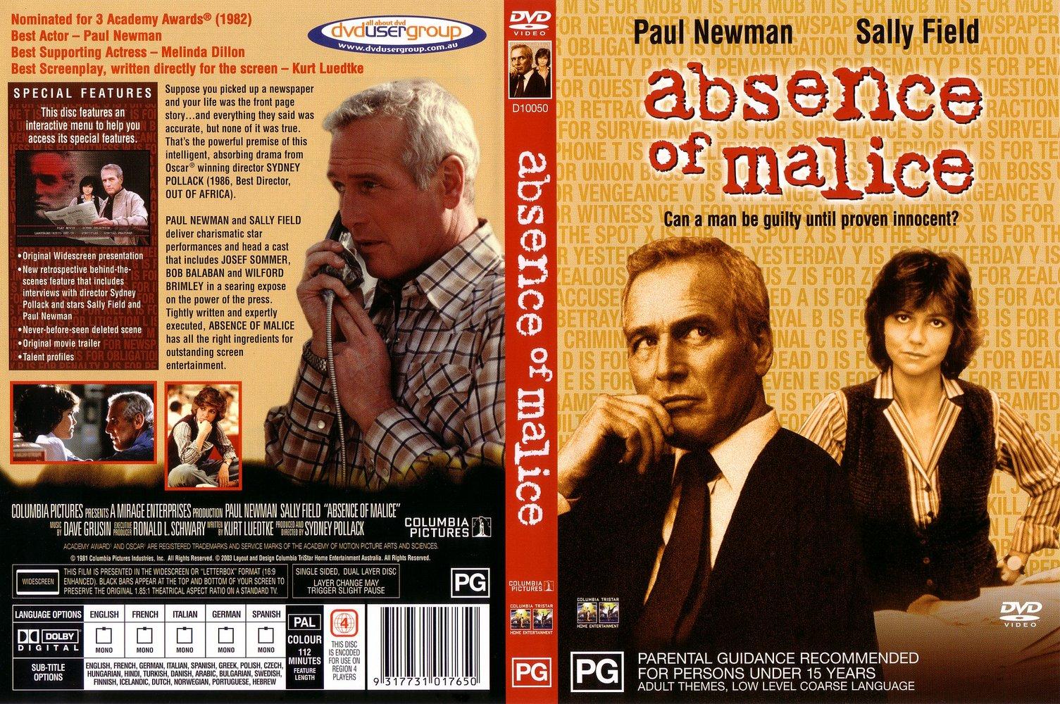 absence of malice Absence of malice 182 likes absence of malice ist eine rock-band, die - mit einigen unterbrechungen - seit 1992 besteht.