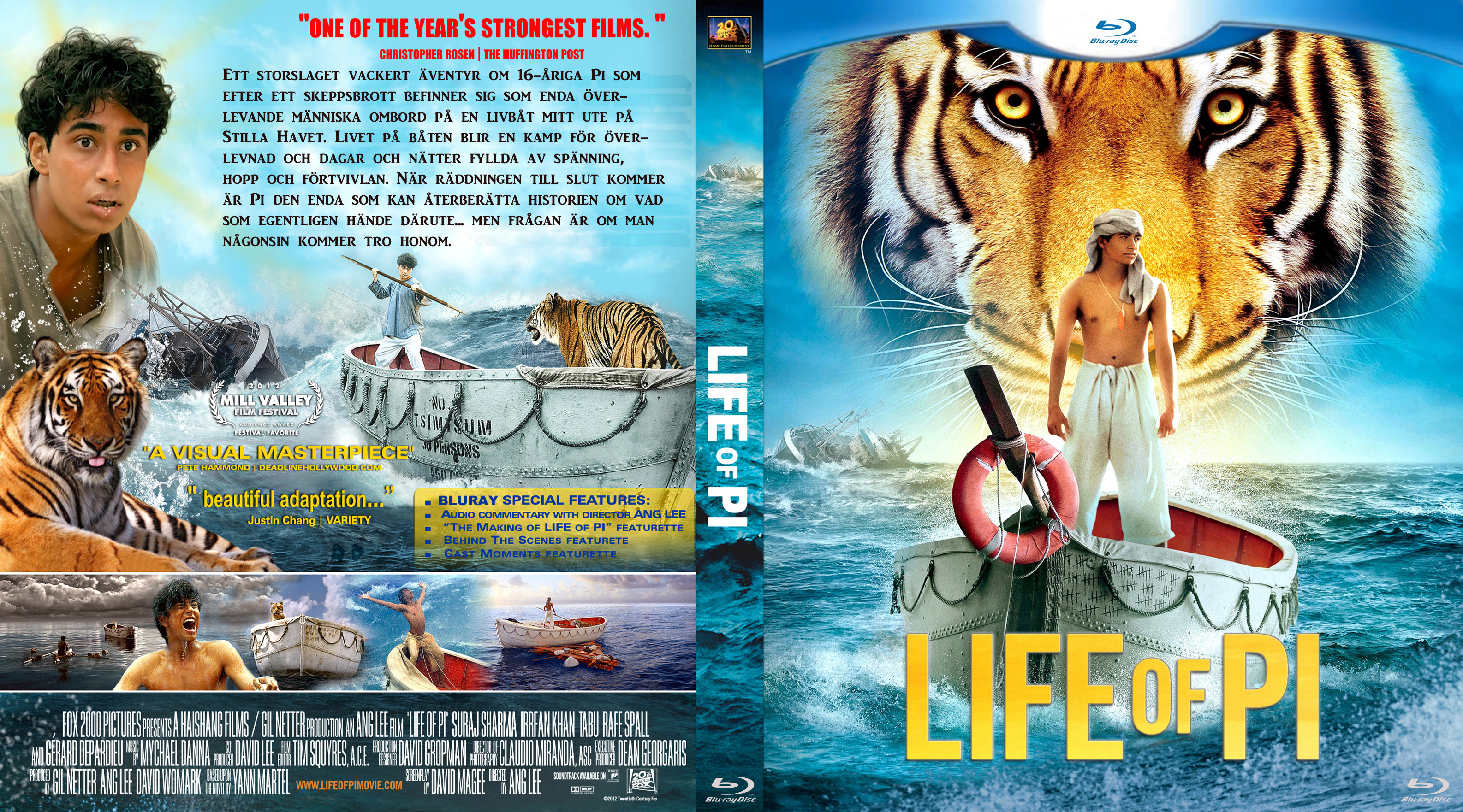 Covers Box Sk Life Of Pi 2012 Bluray High Quality Dvd Blueray Movie
