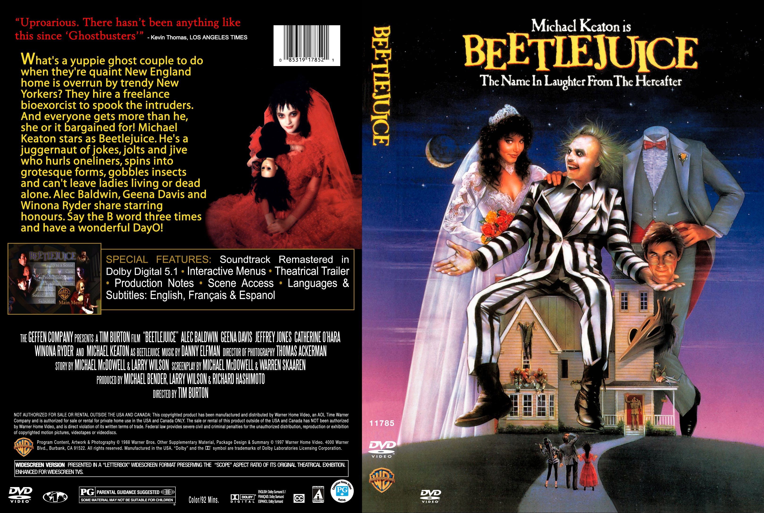 Beetlejuice (1988) R1 Blu Ray Cover | Cover Dude