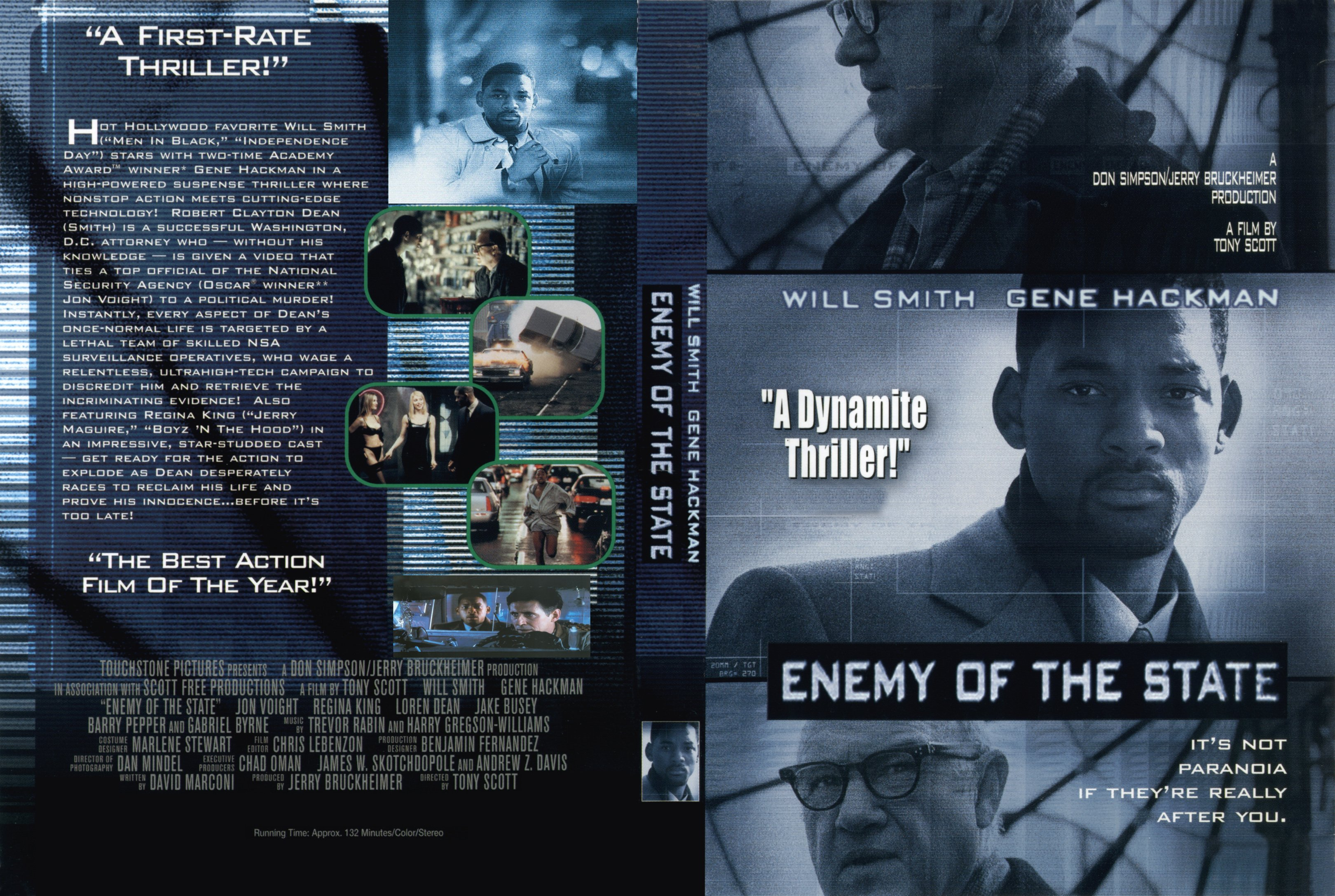 Covers Box Sk Enemy Of The State 1998 High Quality Dvd Blueray Movie