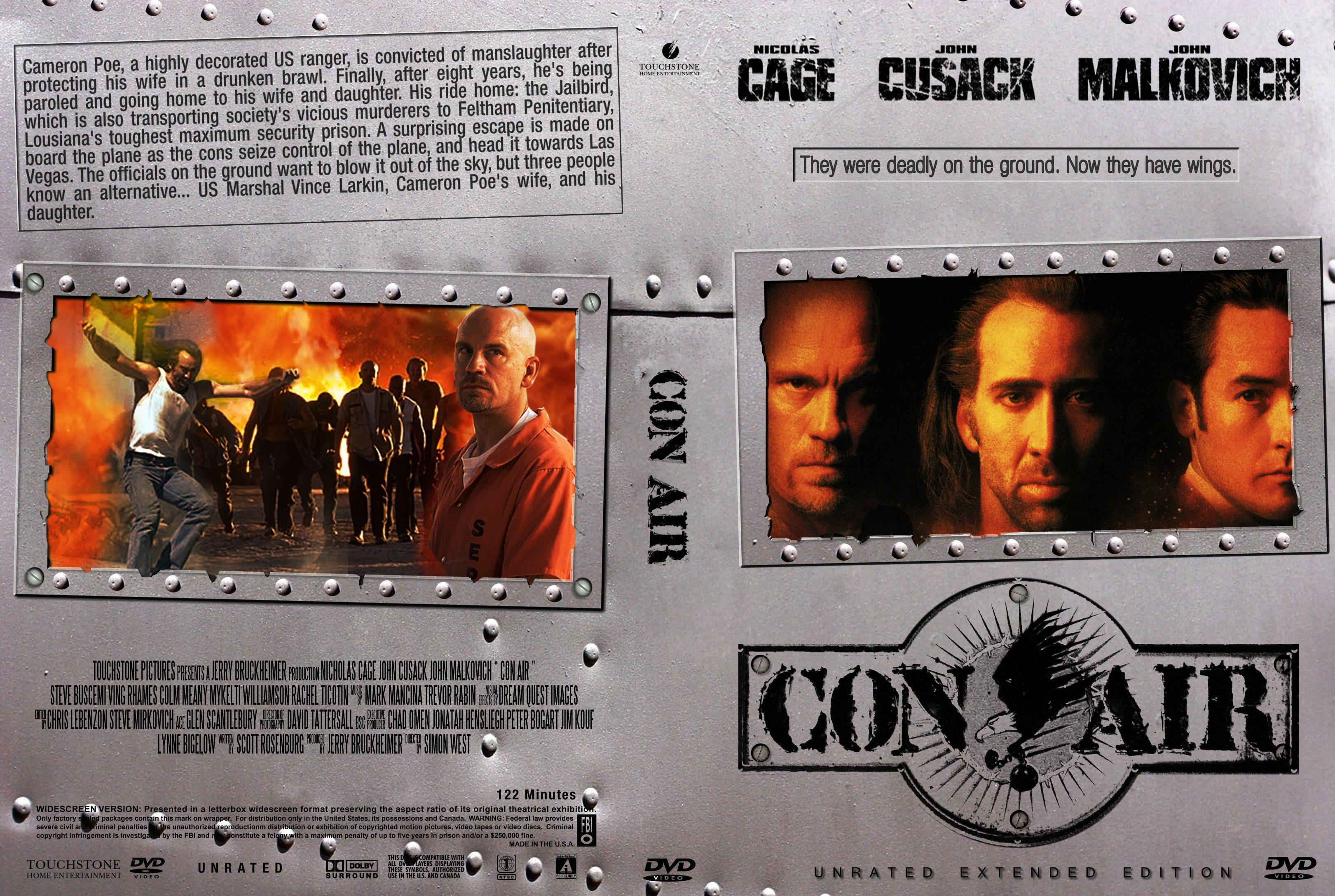 Covers Box Sk Con Air 1997 High Quality Dvd Blueray Movie