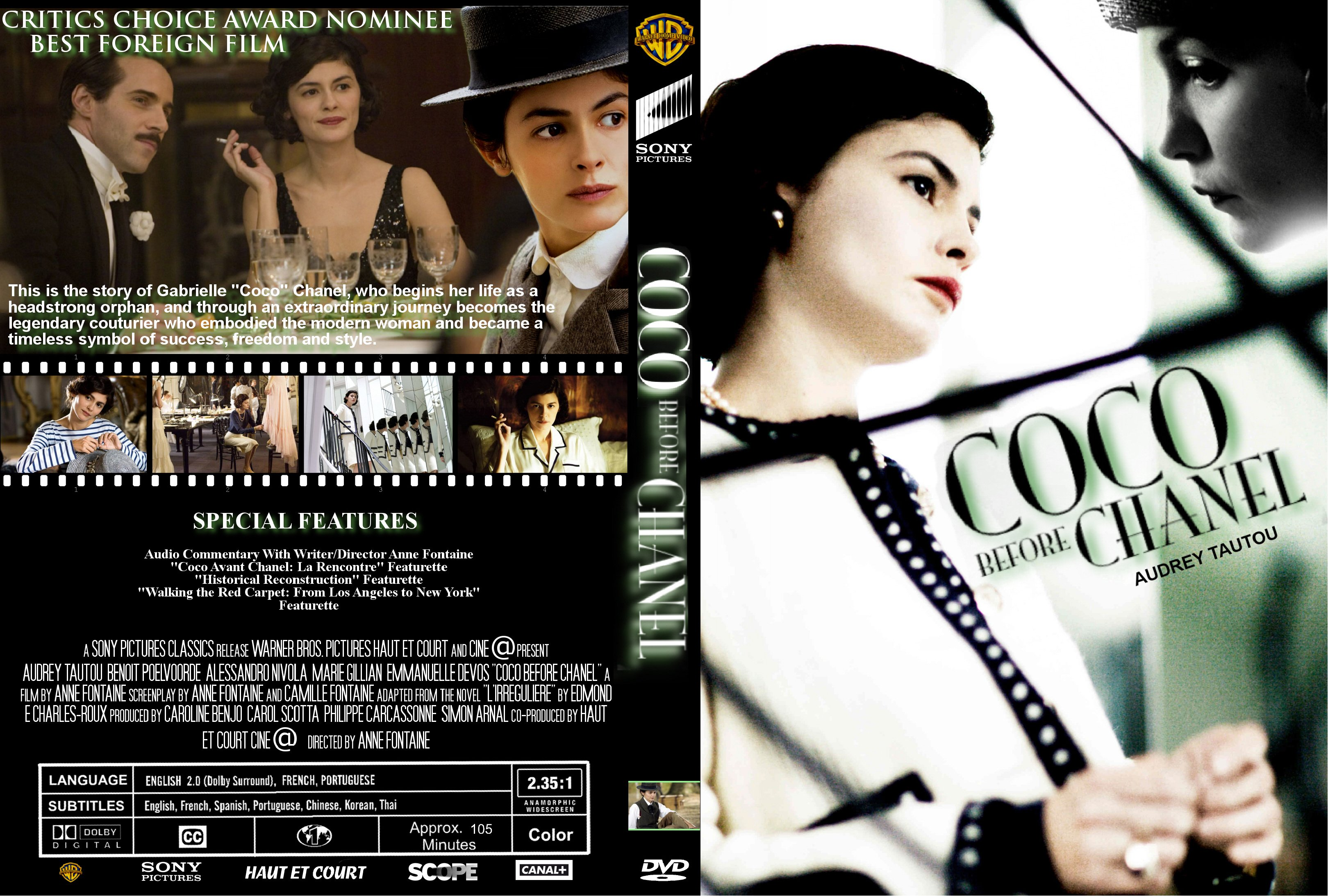 COVERS.BOX.SK ::: Coco Before Chanel 2009 - high quality DVD ...