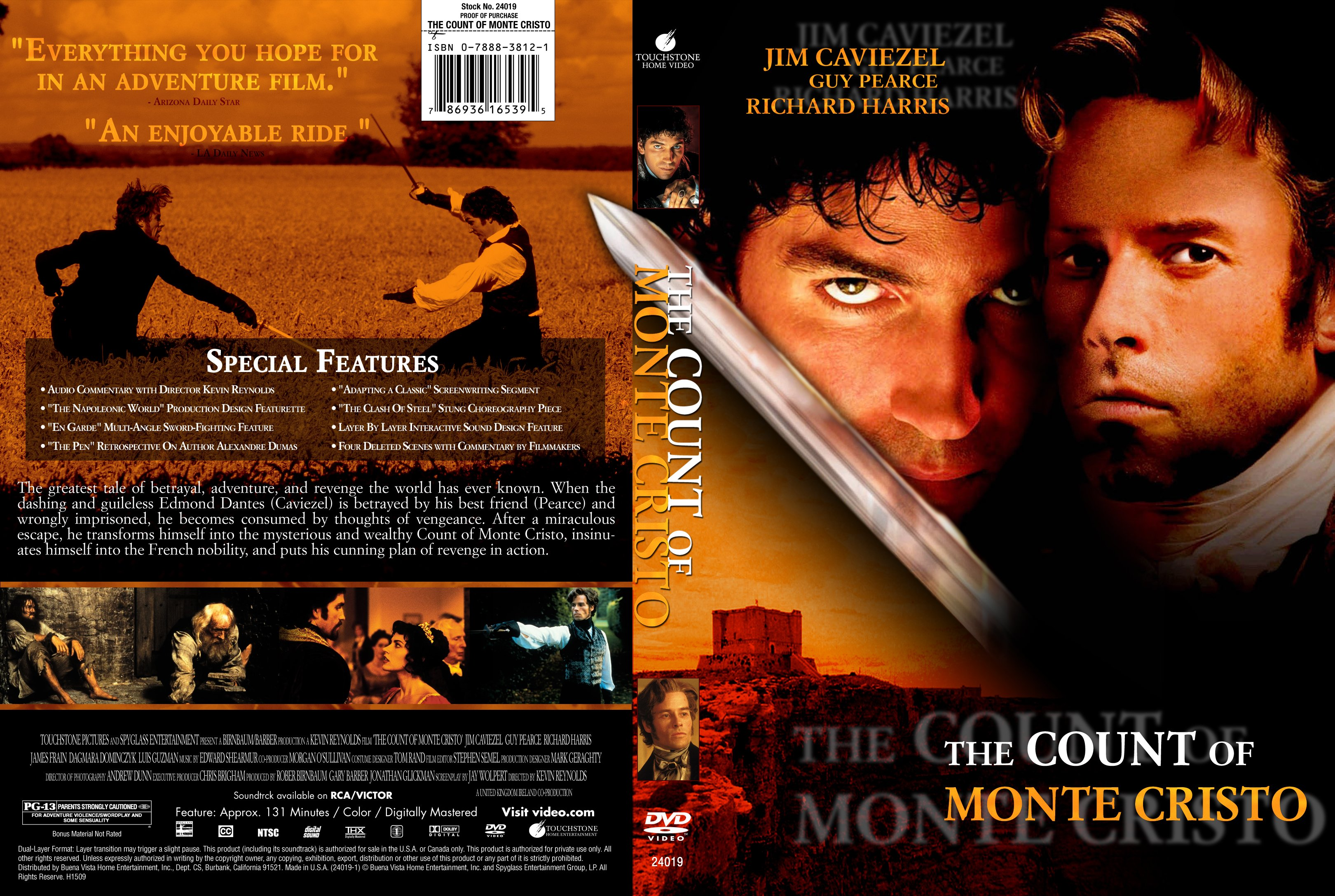 the most important things in life in the count of monte cristo a movie by kevin reynolds