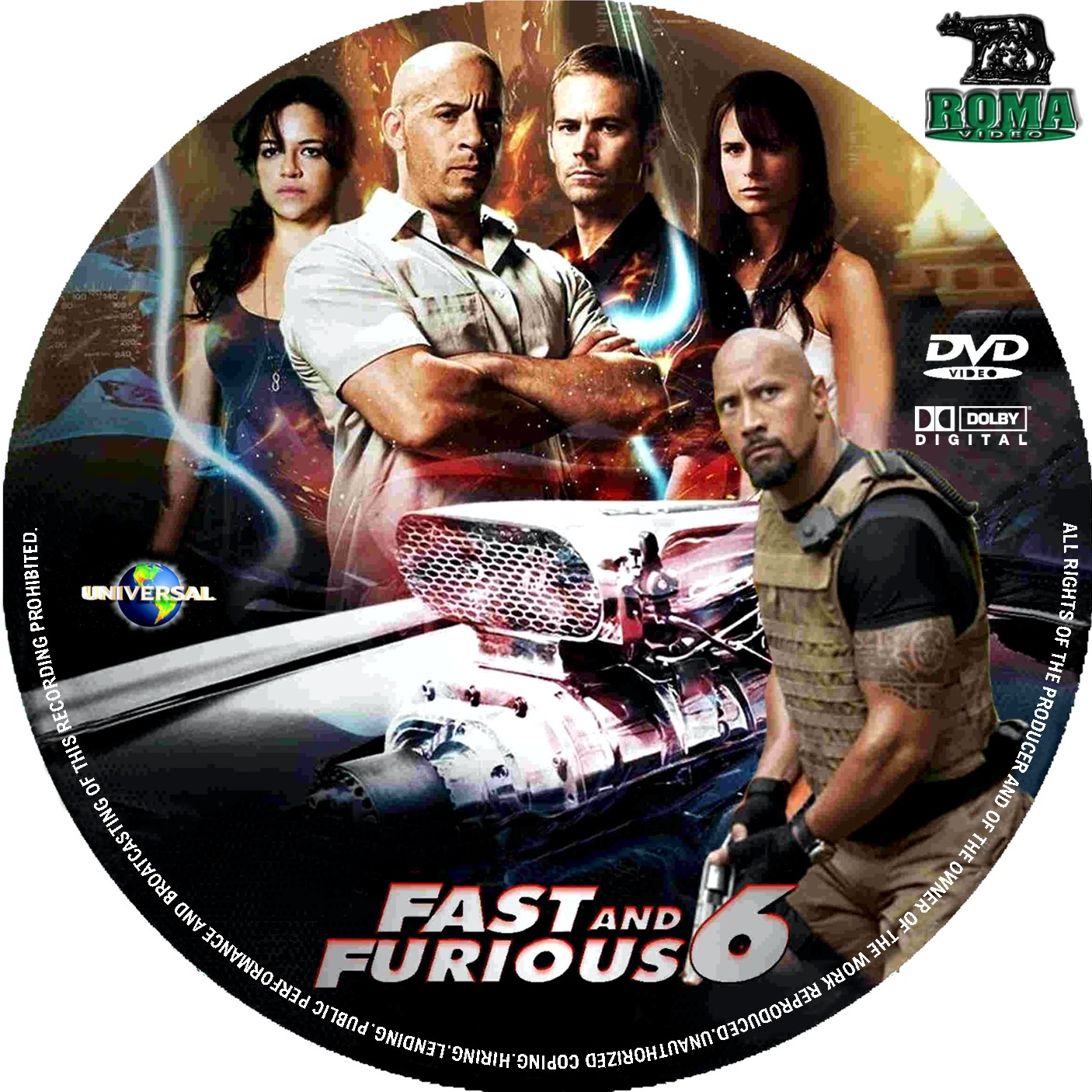 Covers Box Sk Fast And Furious 6 2013 High Quality Dvd Blueray Movie
