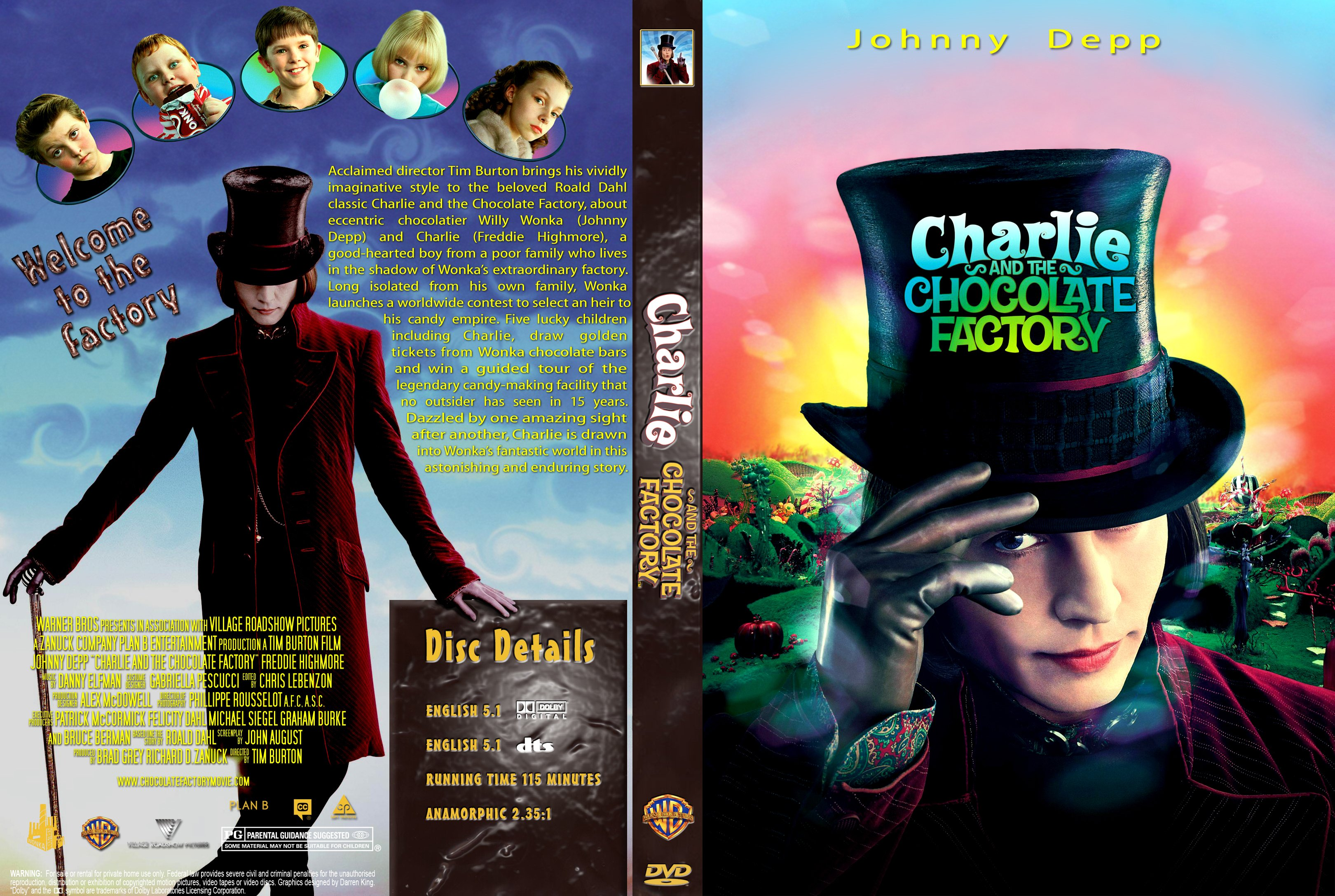 COVERS.BOX.SK ::: Charlie And The Chocolate Factory 2005 - high ...