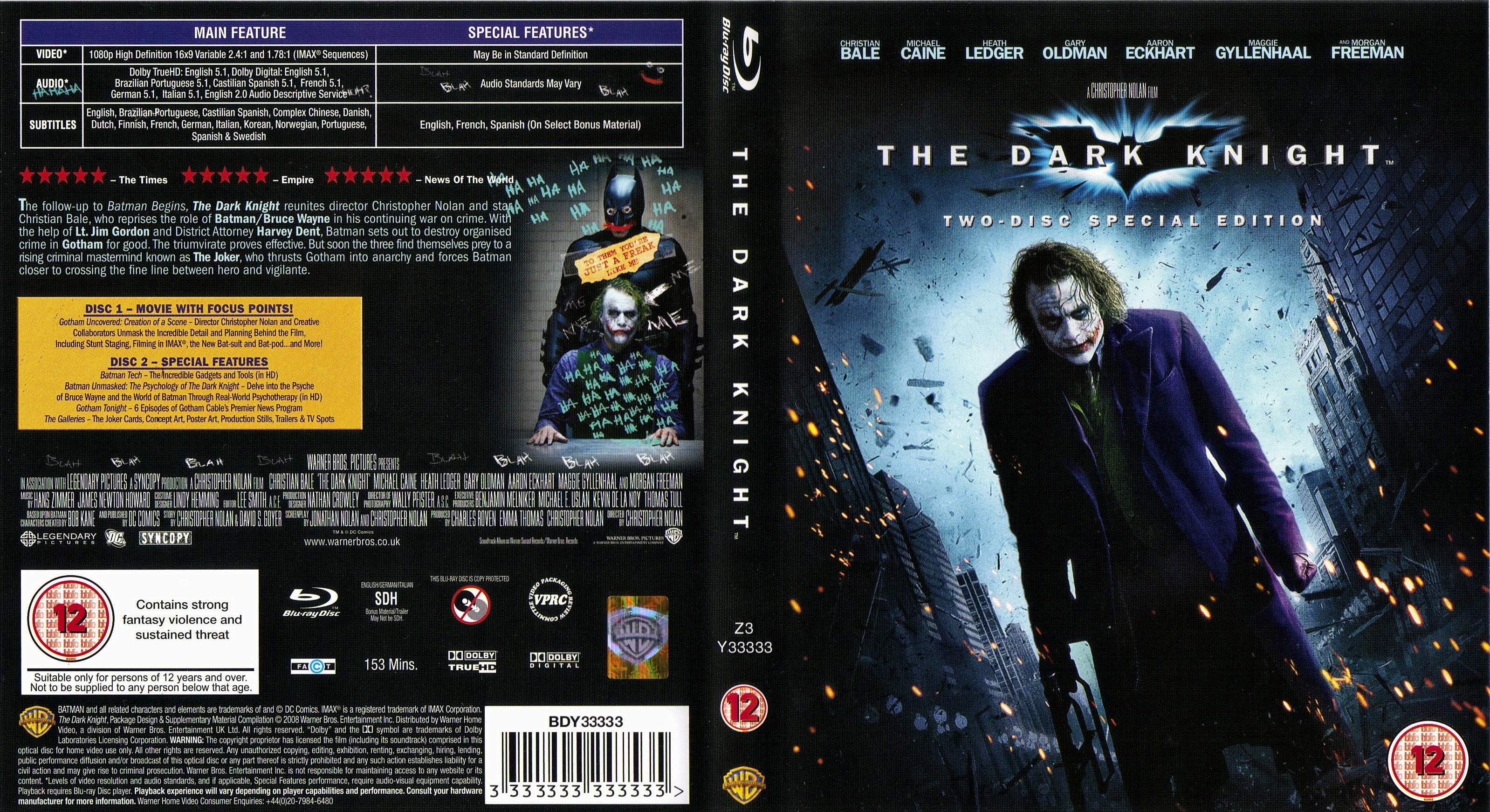 covers box sk the dark knight 2008 blu ray high. Black Bedroom Furniture Sets. Home Design Ideas