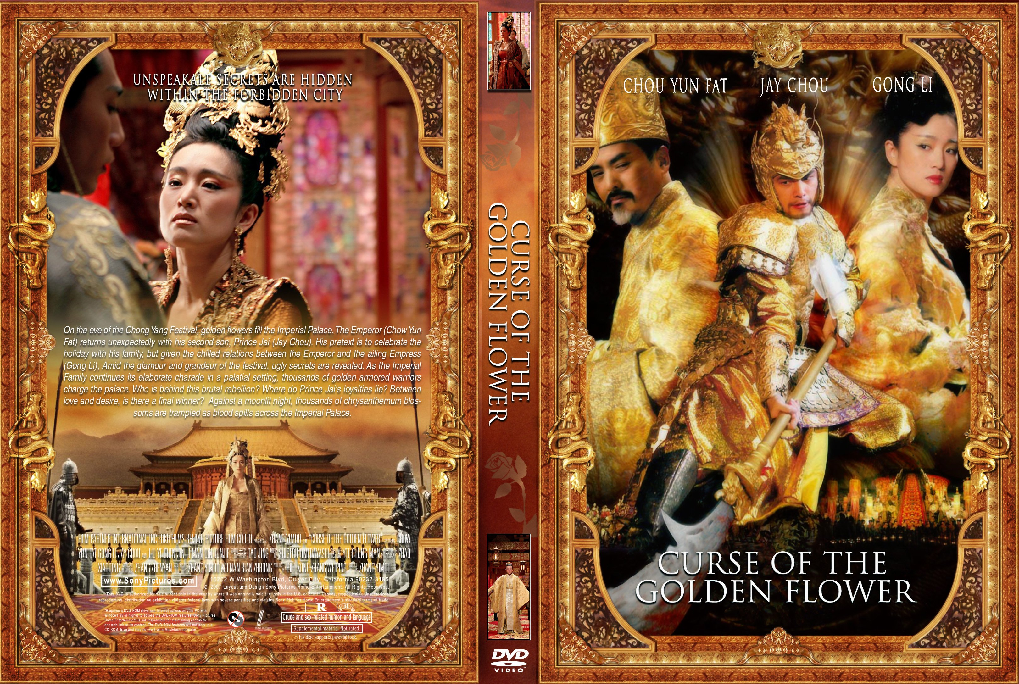COVERS BOX SK Curse of the Golden Flower 2006 high quality DVD Bluera