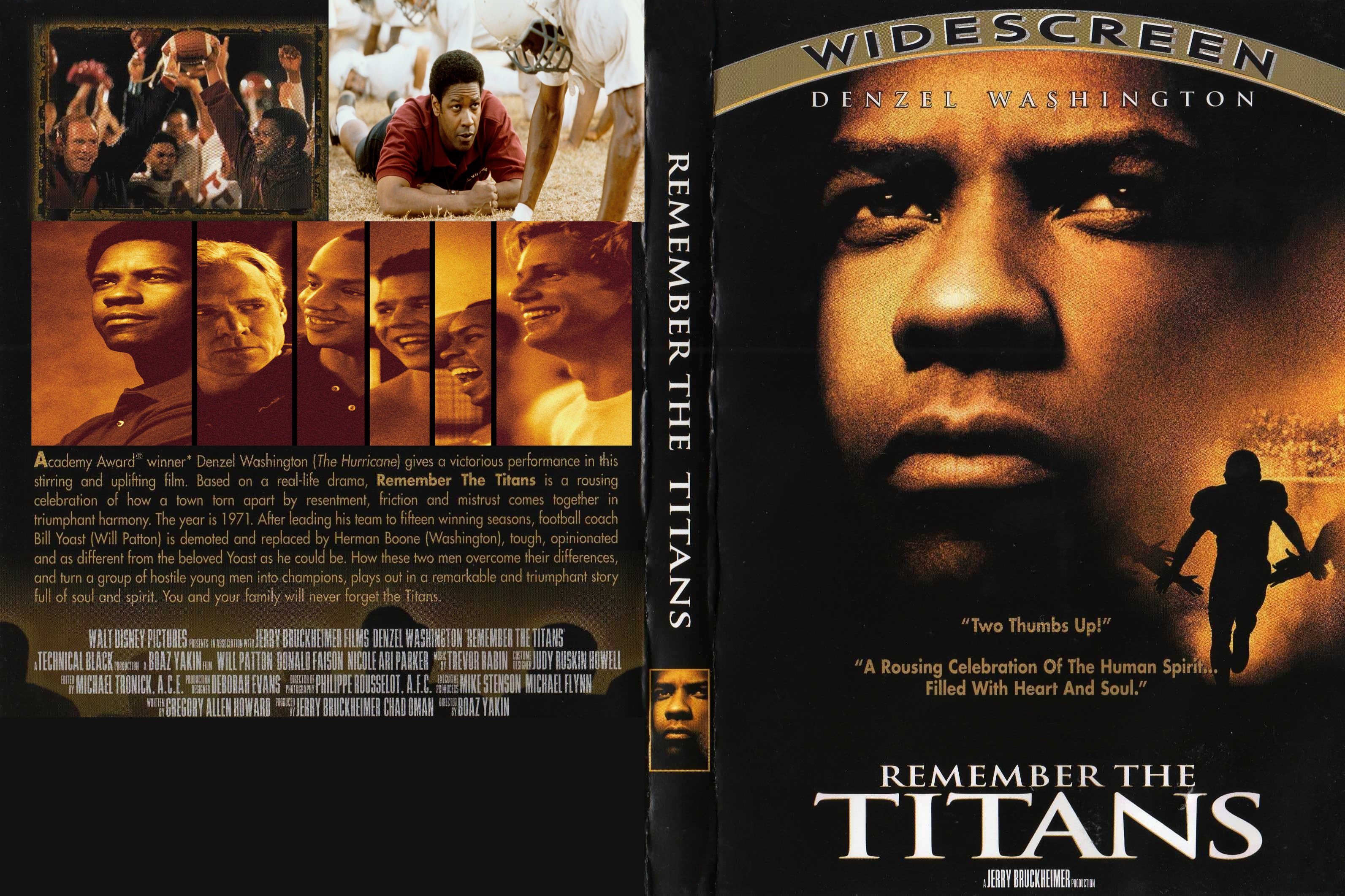 film analysis remember the titans Remember the titans: a theoretical analysis rameca leary disney studios released the critically -acclaimed film, remember the titans, based on the team's story.