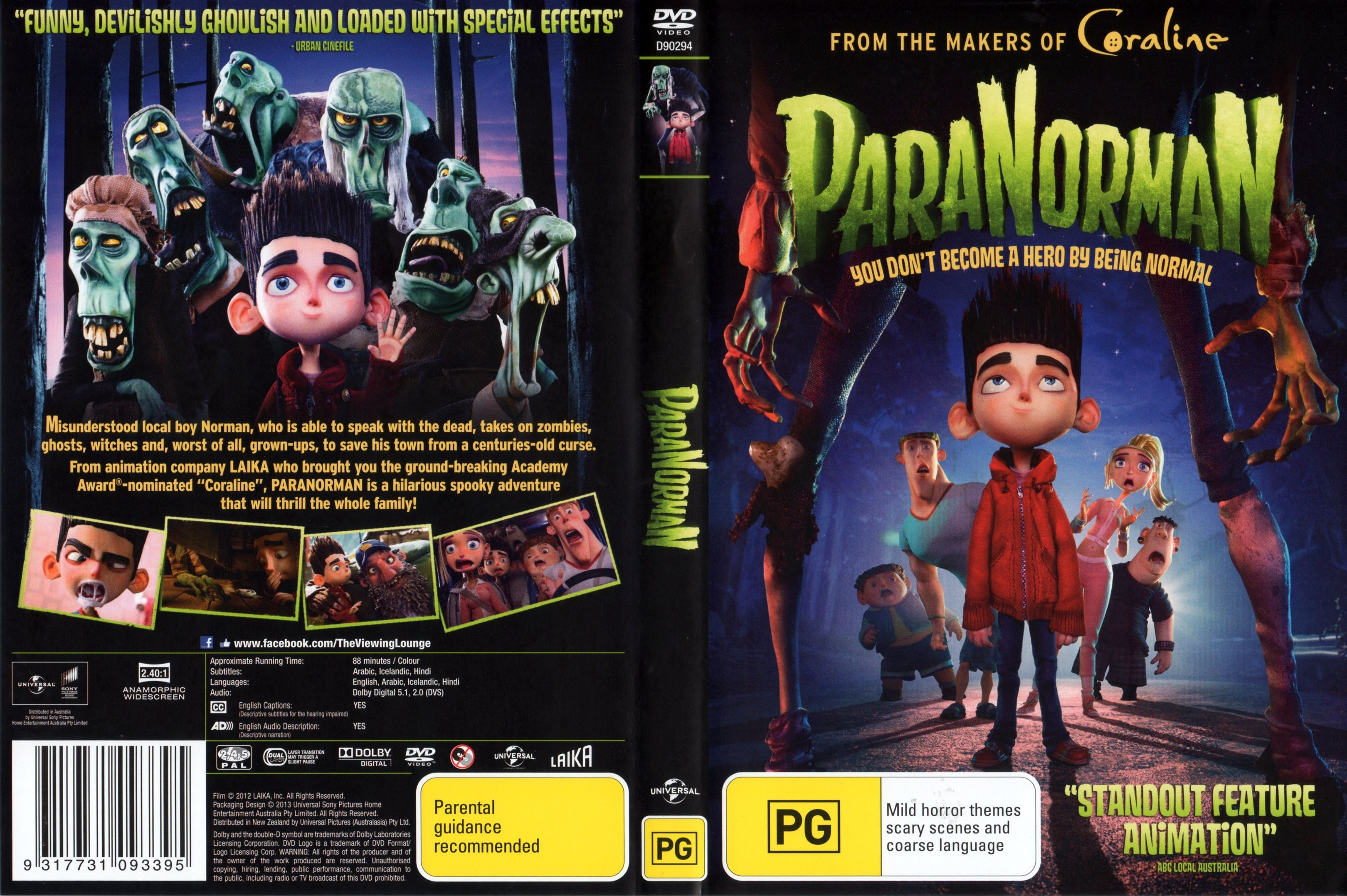 COVERS BOX SK ::: Paranorman (2012) - high quality DVD / Blueray / Movie