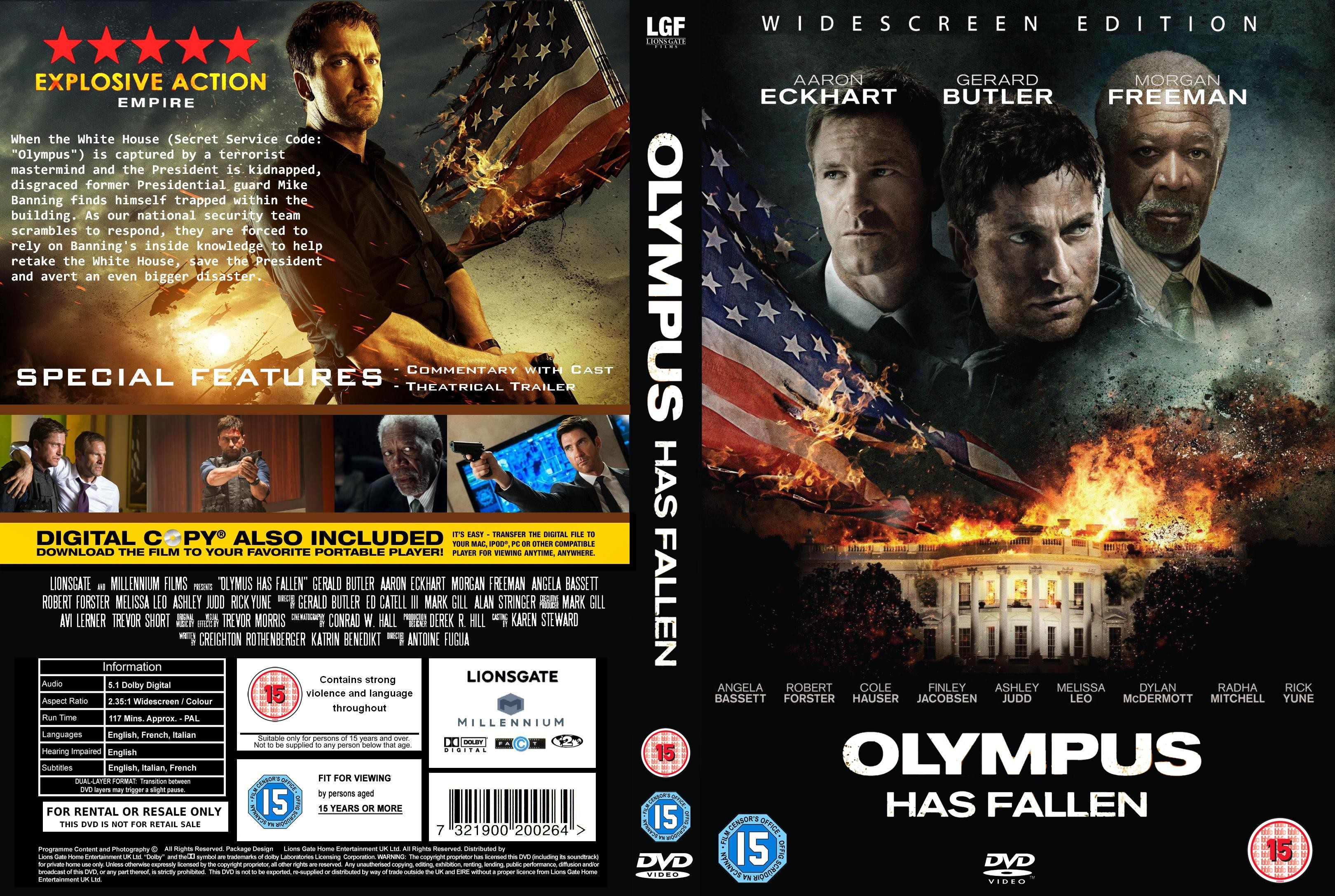 Covers Box Sk Olympus Has Fallen 2013 High Quality Dvd Blueray Movie