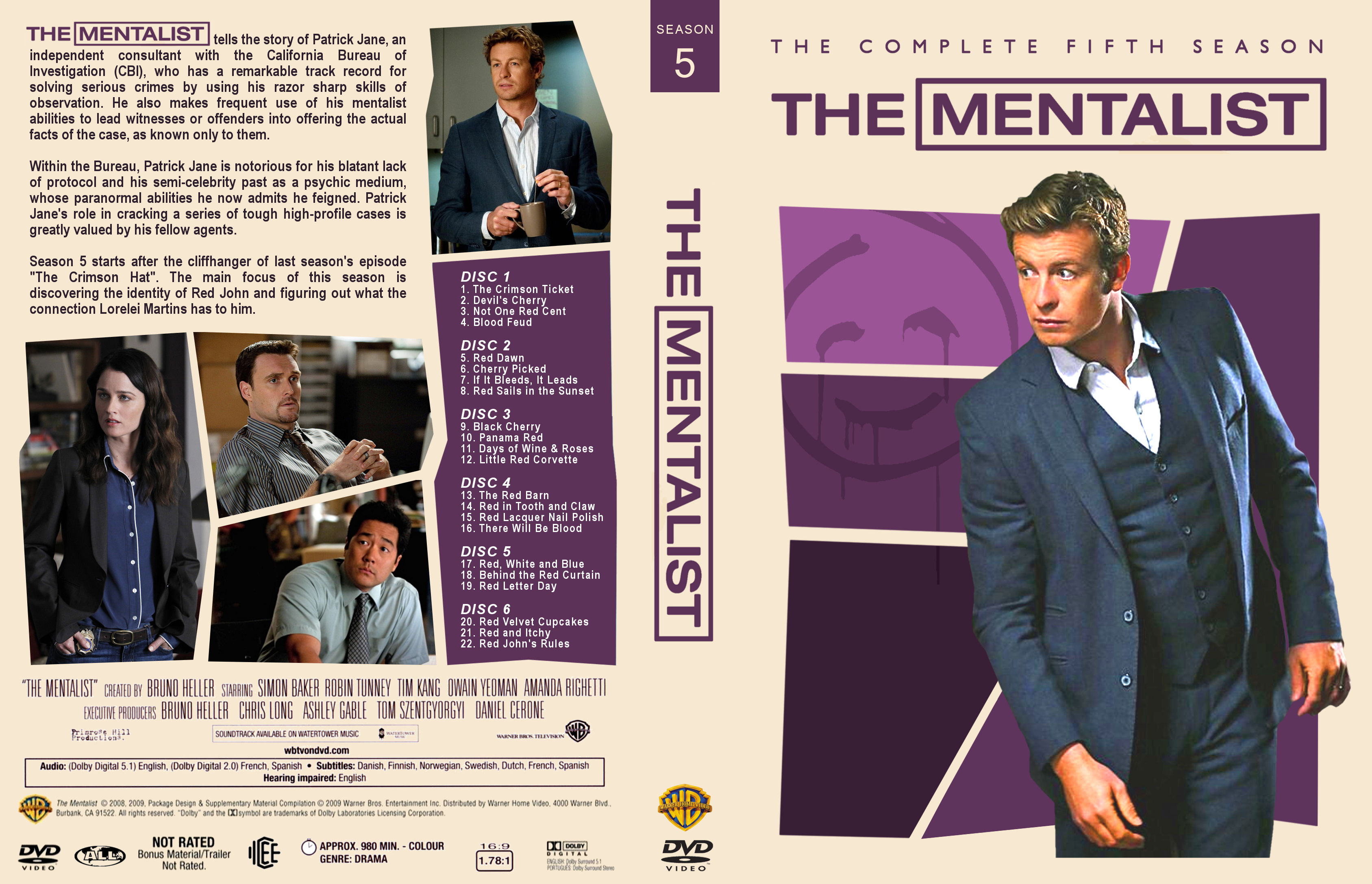 COVERS BOX SK ::: The Mentalist - Season 5 - high quality