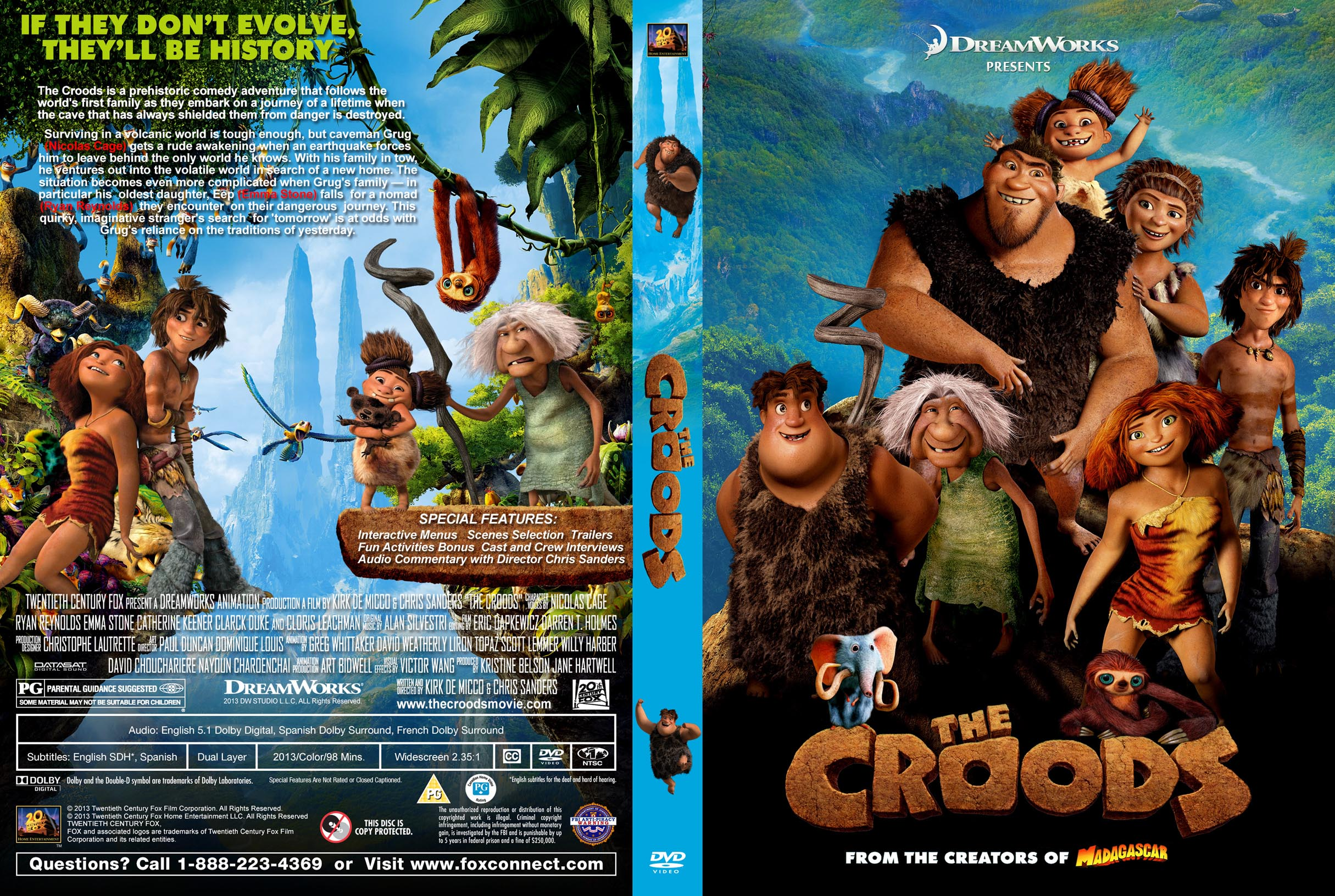 Covers Box Sk The Croods 2013 High Quality Dvd Blueray Movie