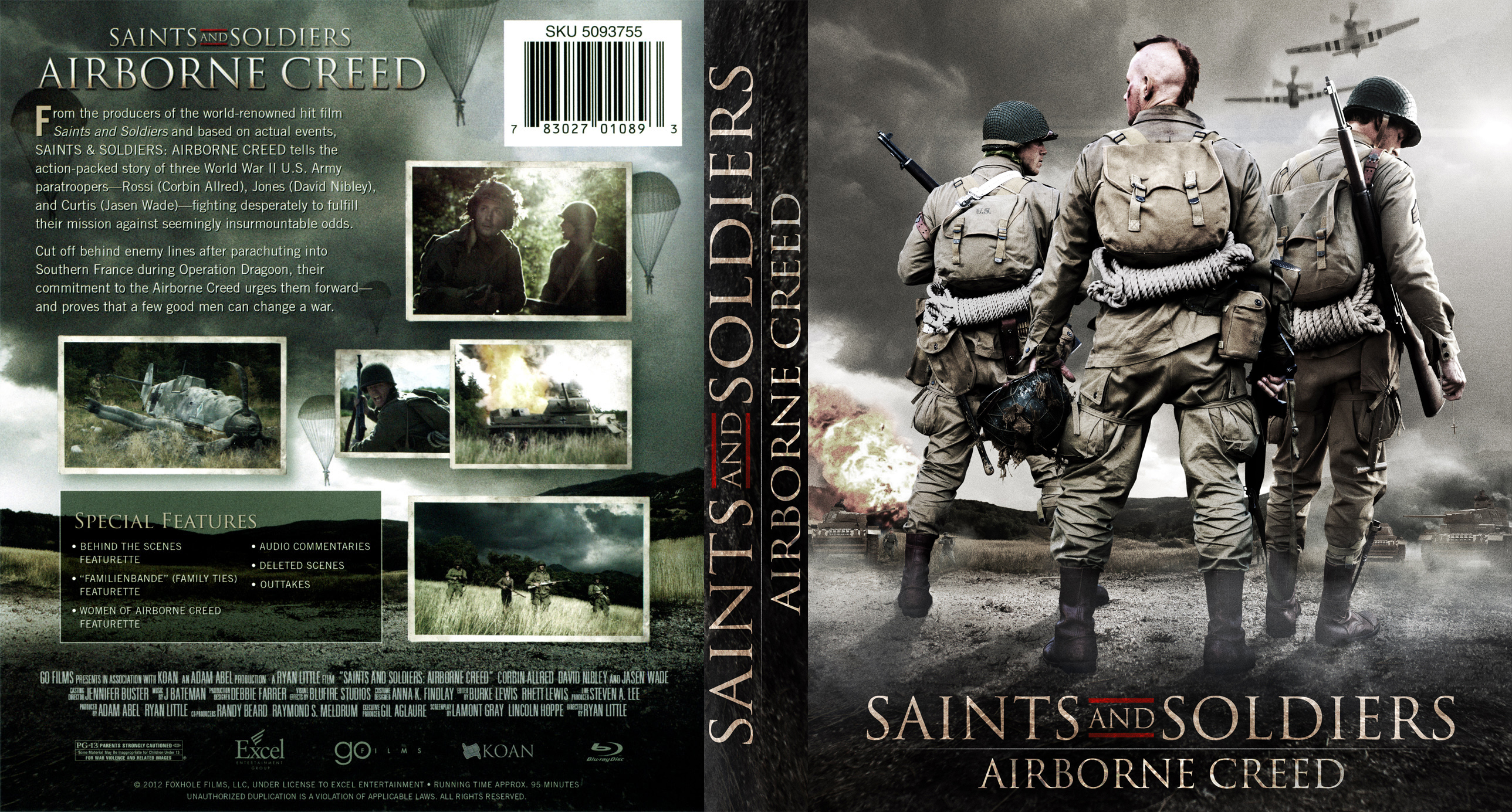 COVERS BOX SK ::: Saints and Soldiers Airborne Creed Blu-ray