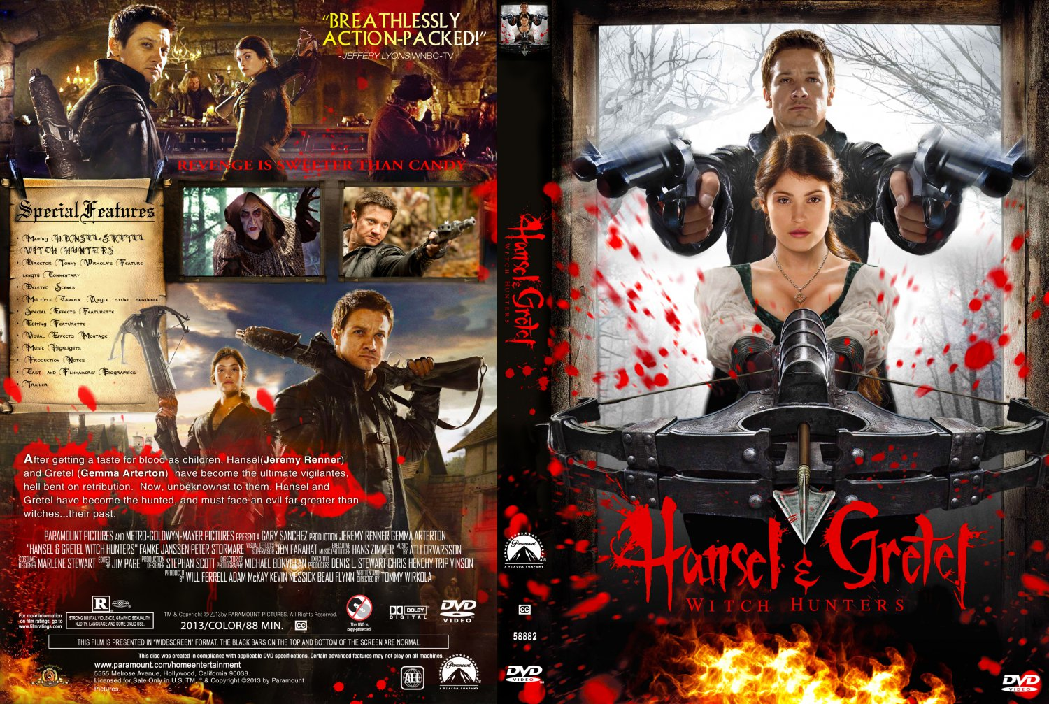 Covers Box Sk Hansel Gretel Witch Hunter 2013 High Quality Dvd Blueray Movie
